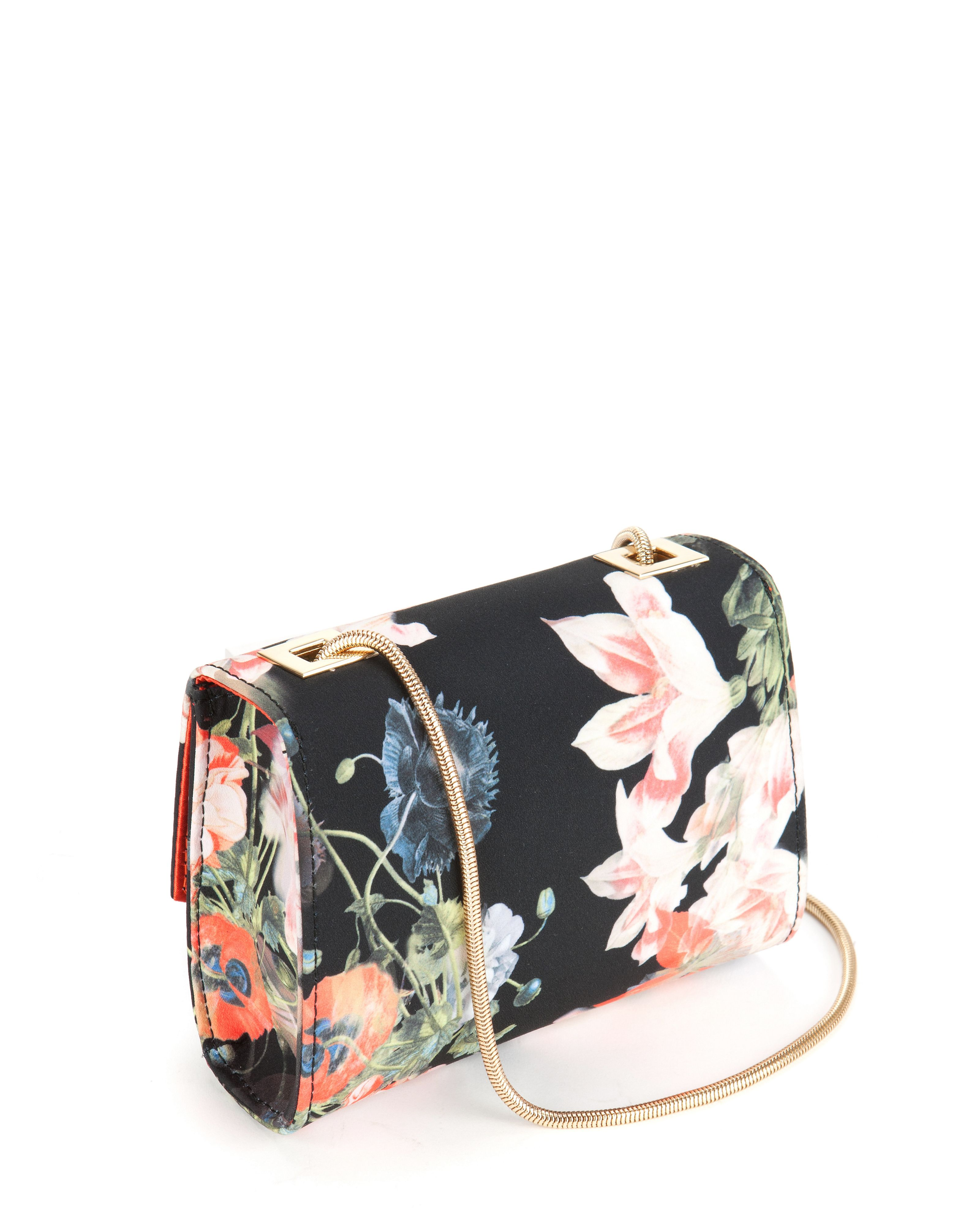 Keira opulent bloom clasp clutch