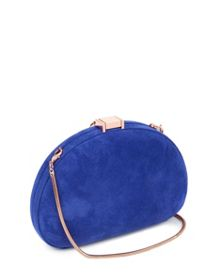 Cierra leather round tassel clutch bag