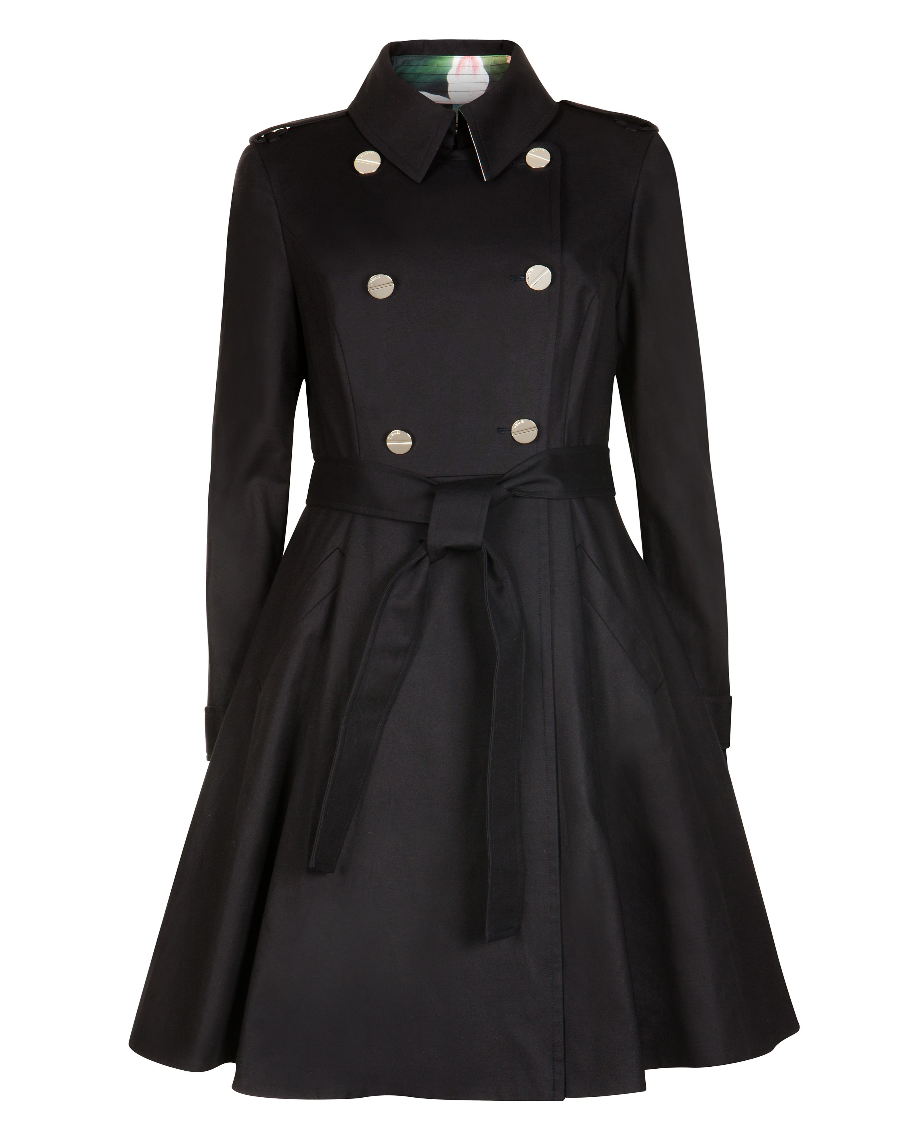 Mckenzy flared skirt trench coat