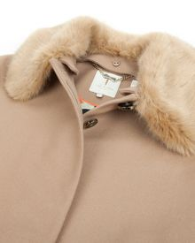Krissa detachable collar coat