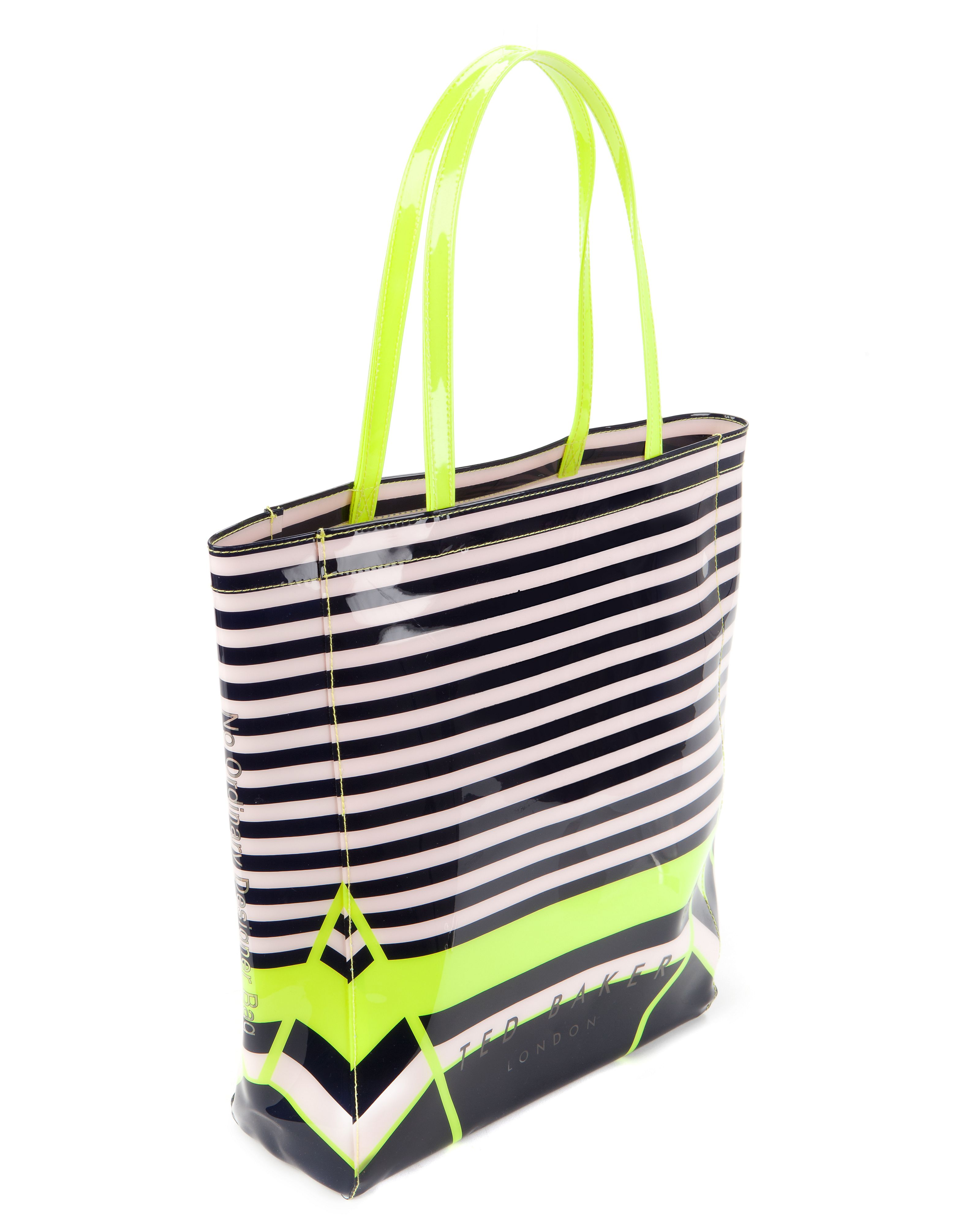 Cancon large candy stripe shopper