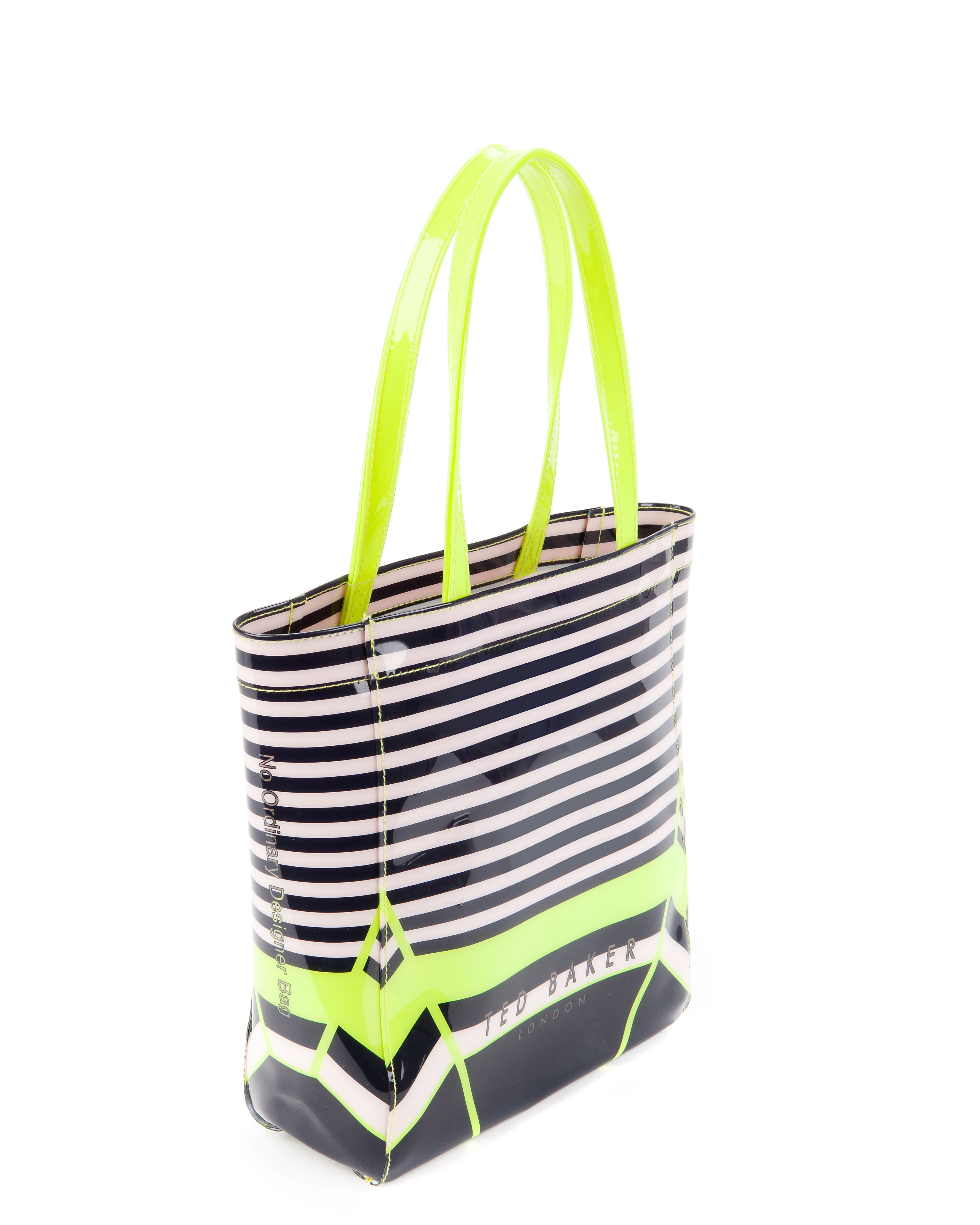 Stricon small candy stripe shopper