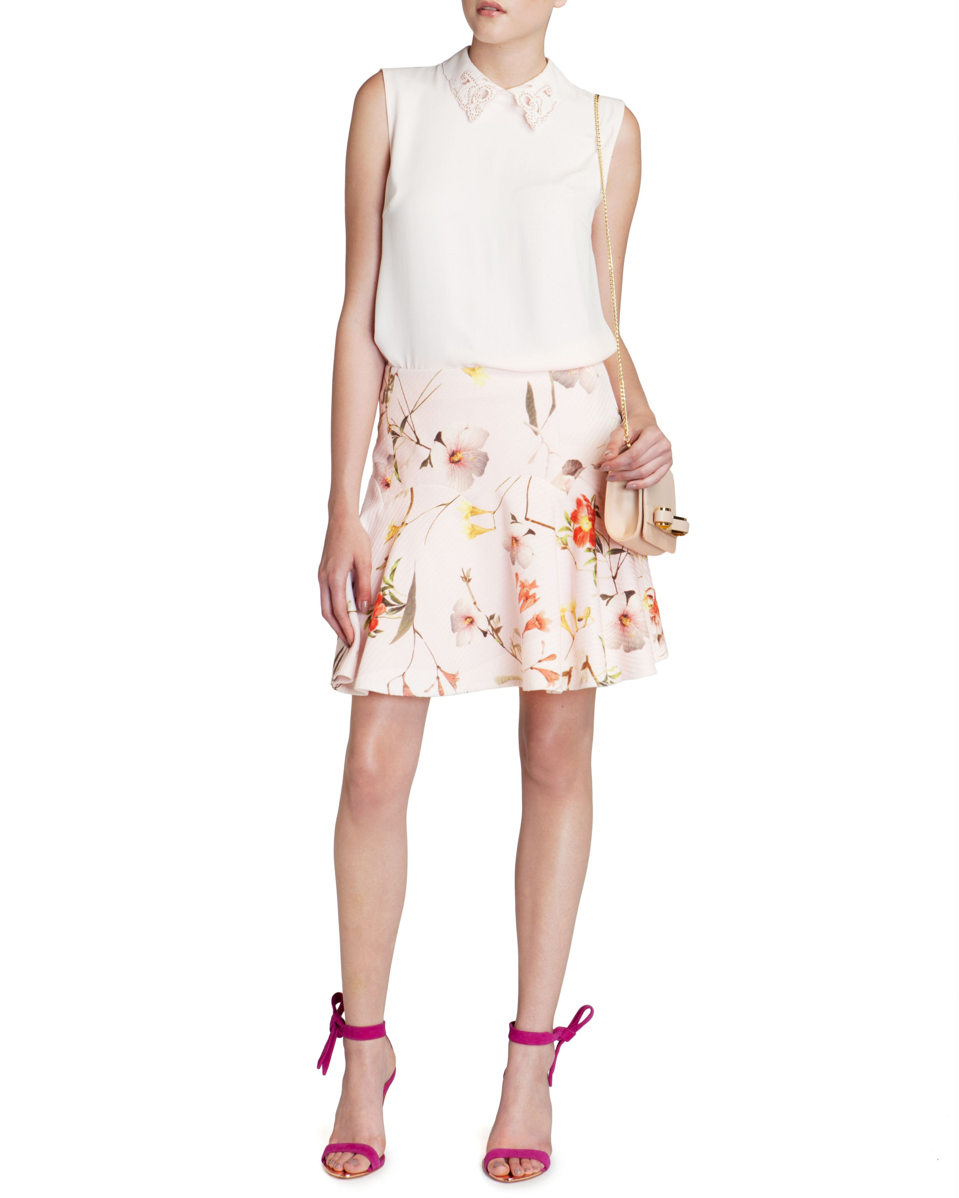 Ginene botanical bloom skirt