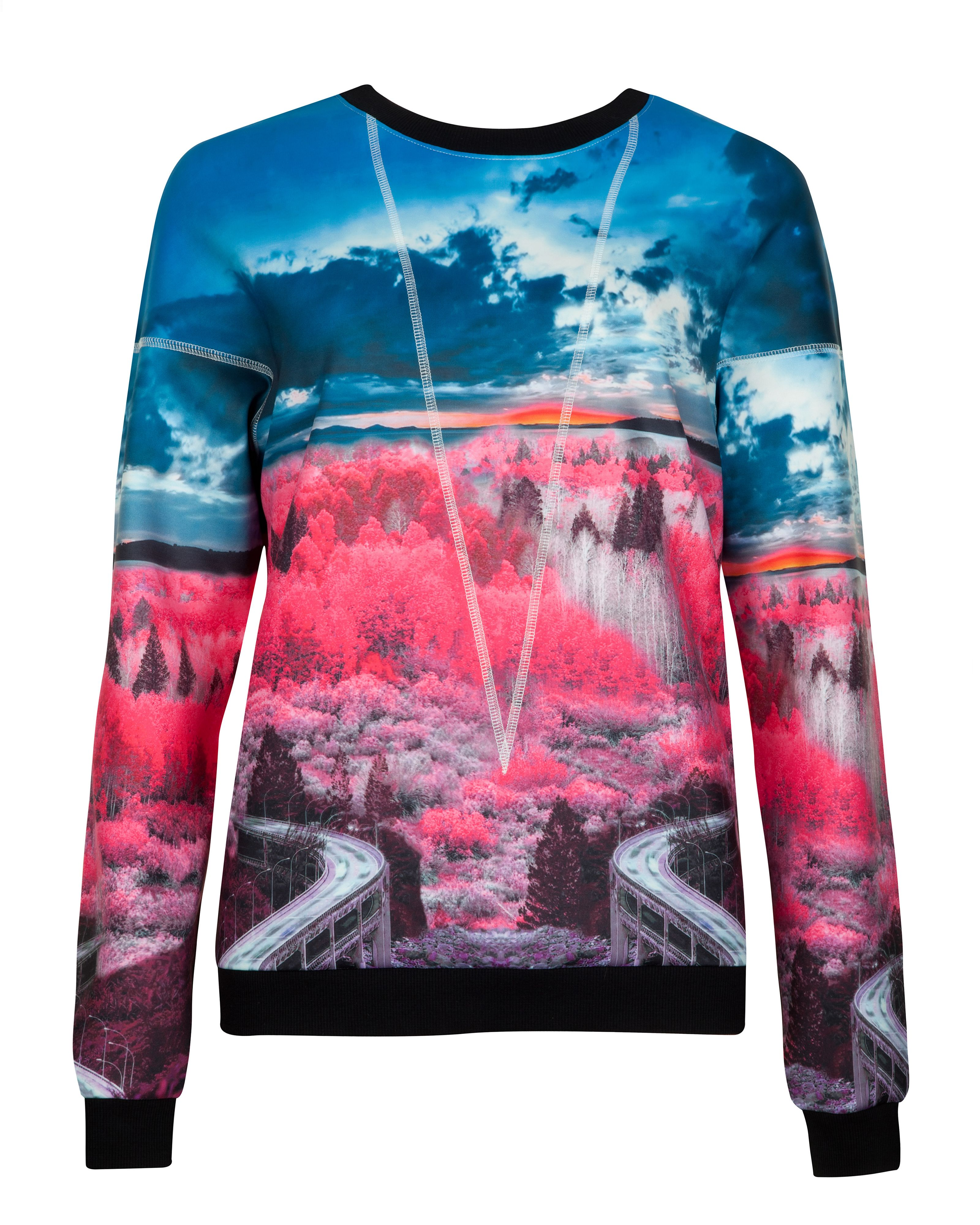Louize road to nowhere printed jumper