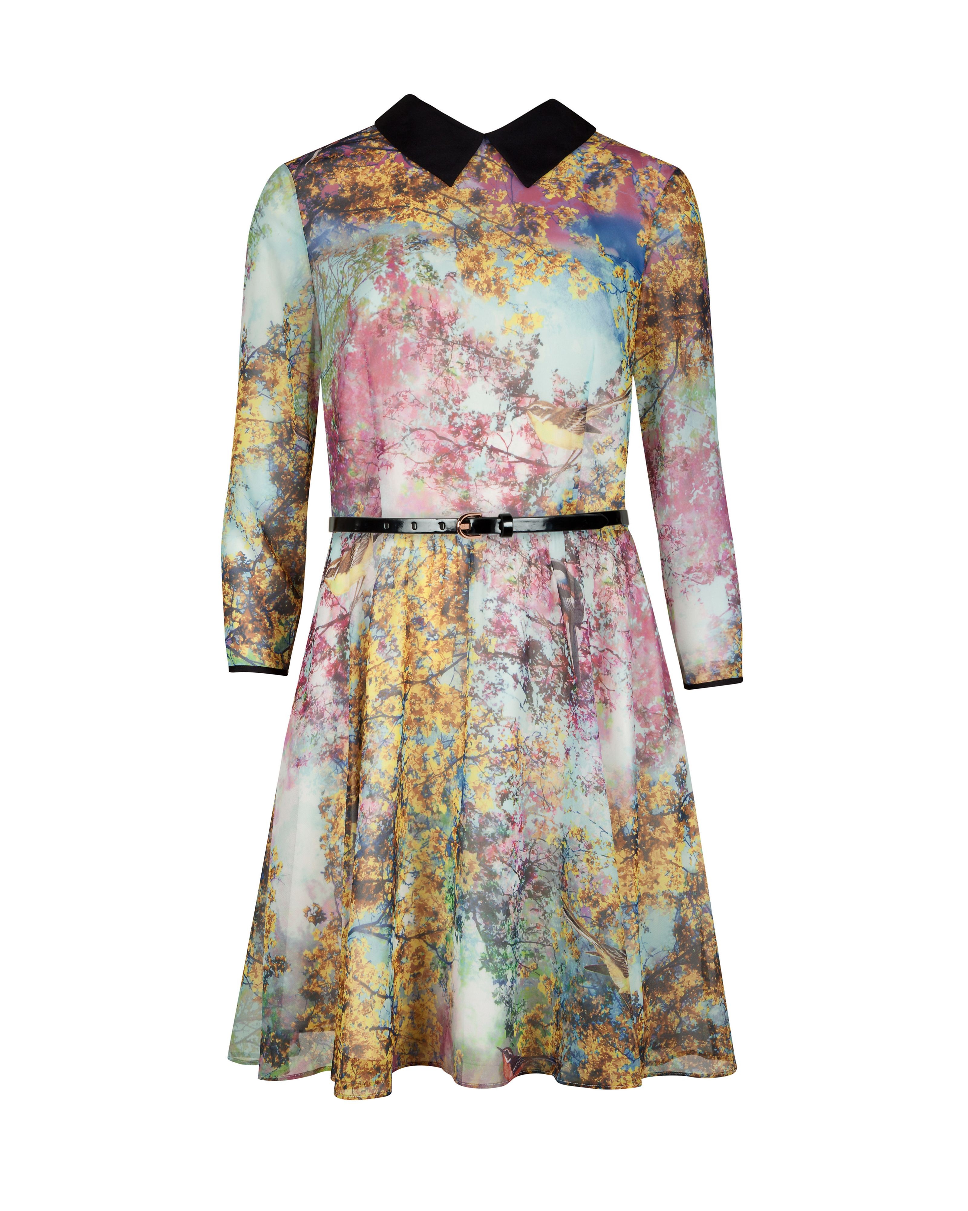 Eponi pretty trees print dress
