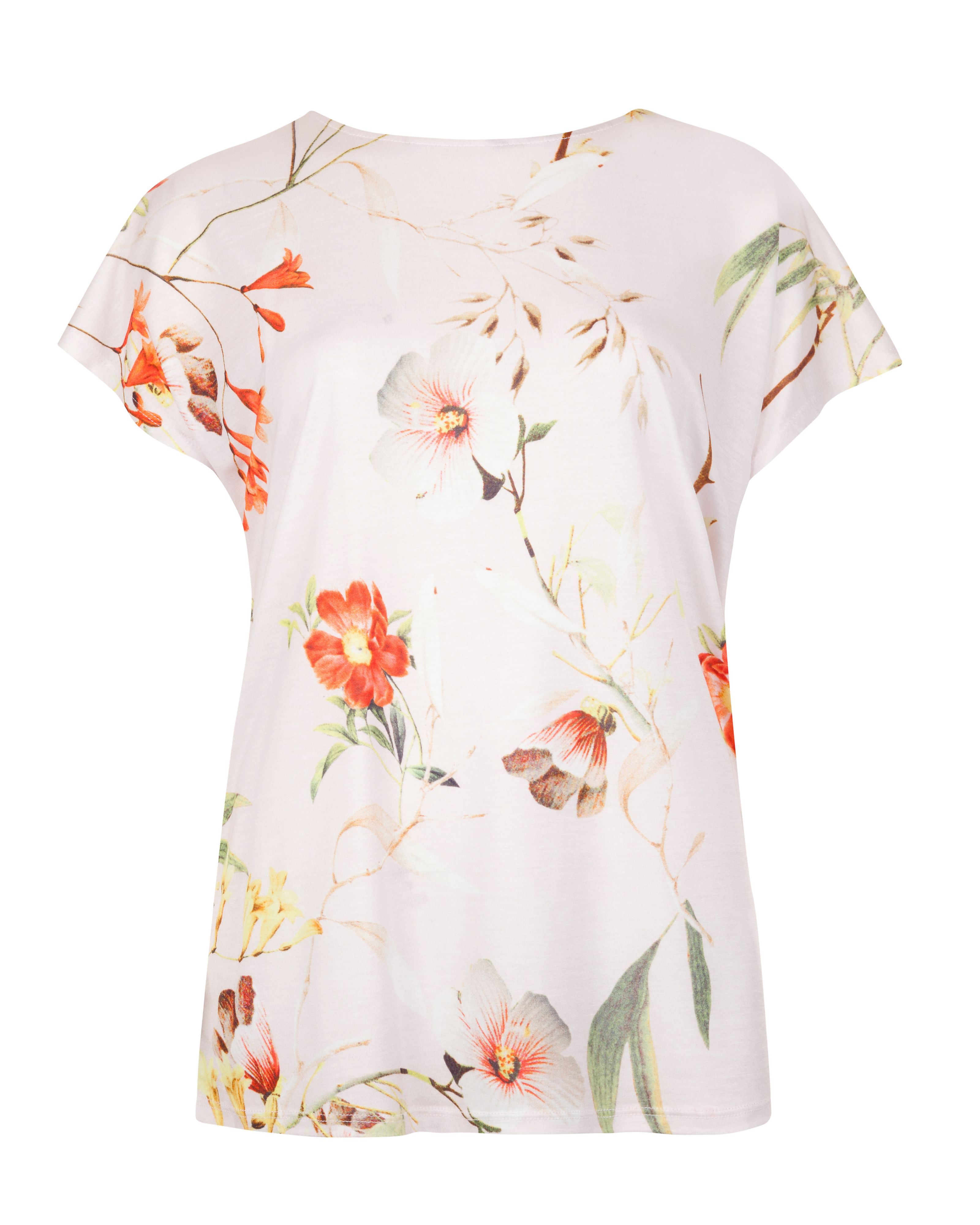 Cekek botanical bloom print tee