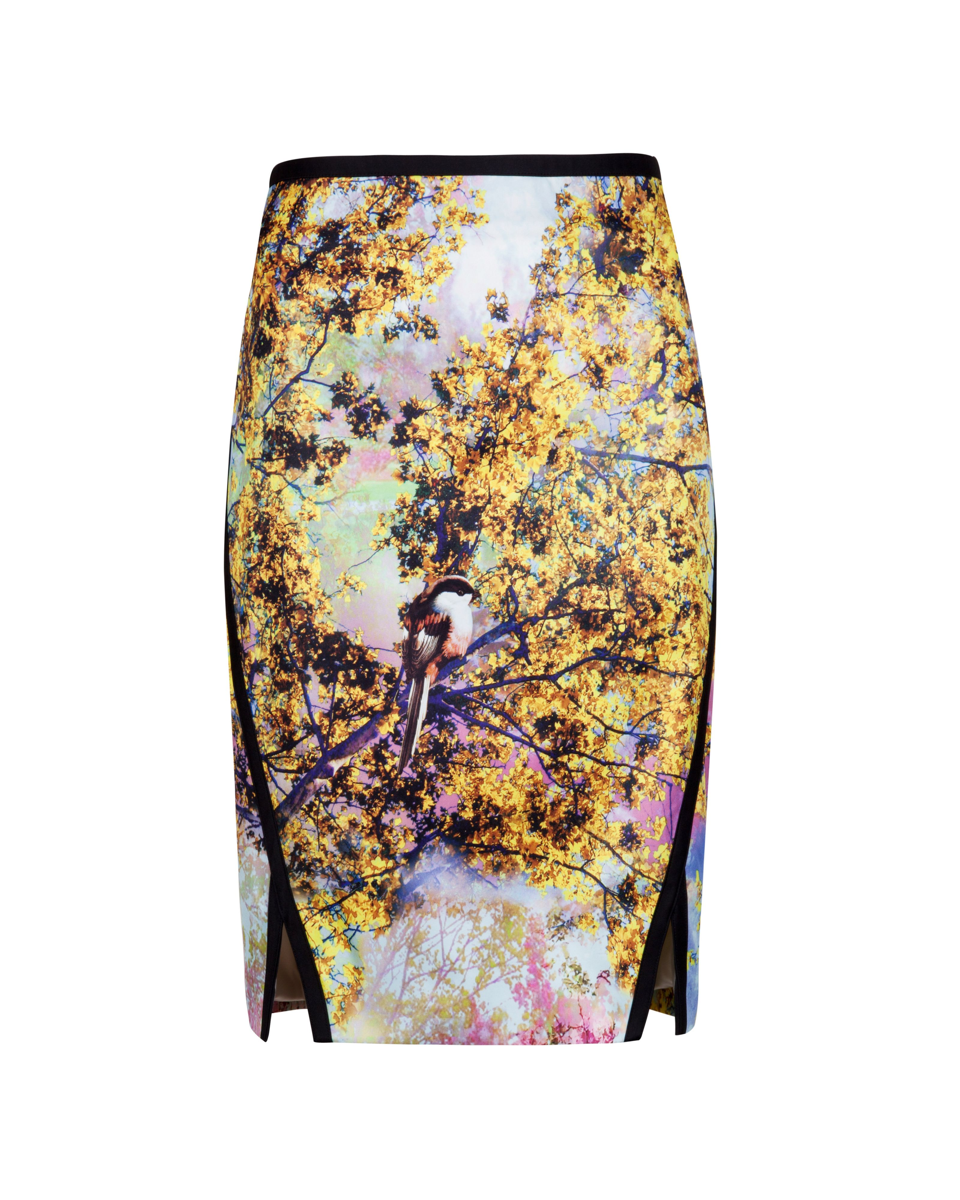 Neevea pretty trees print skirt