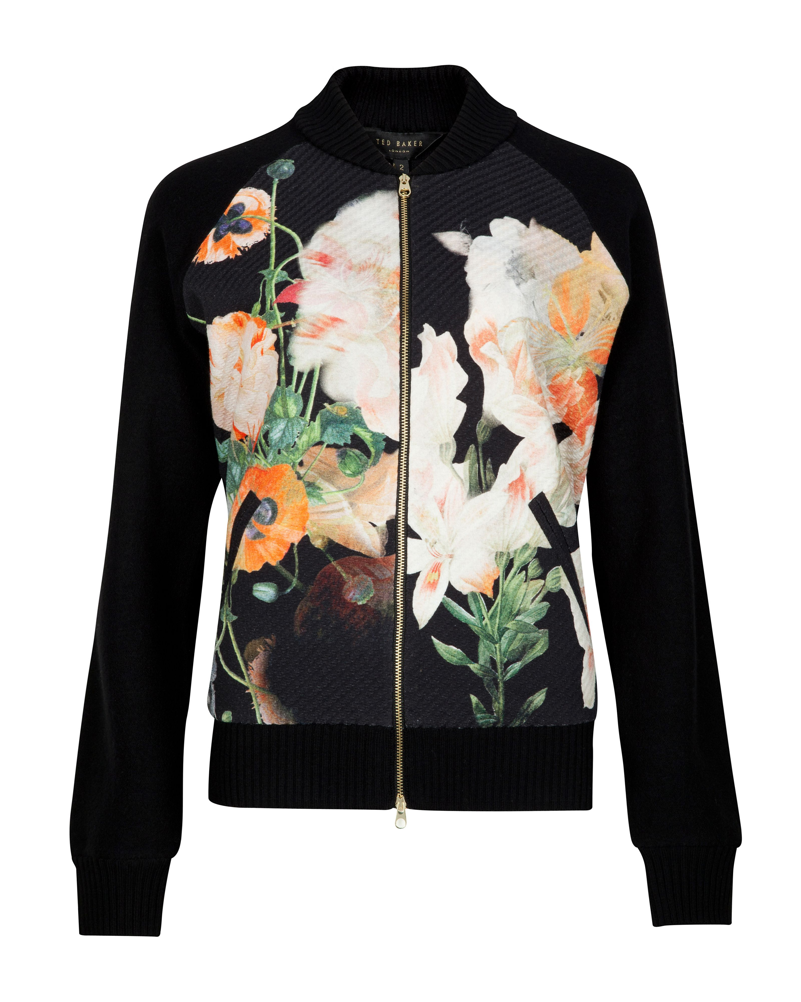 Lyndsy opulent bloom bomber jacket