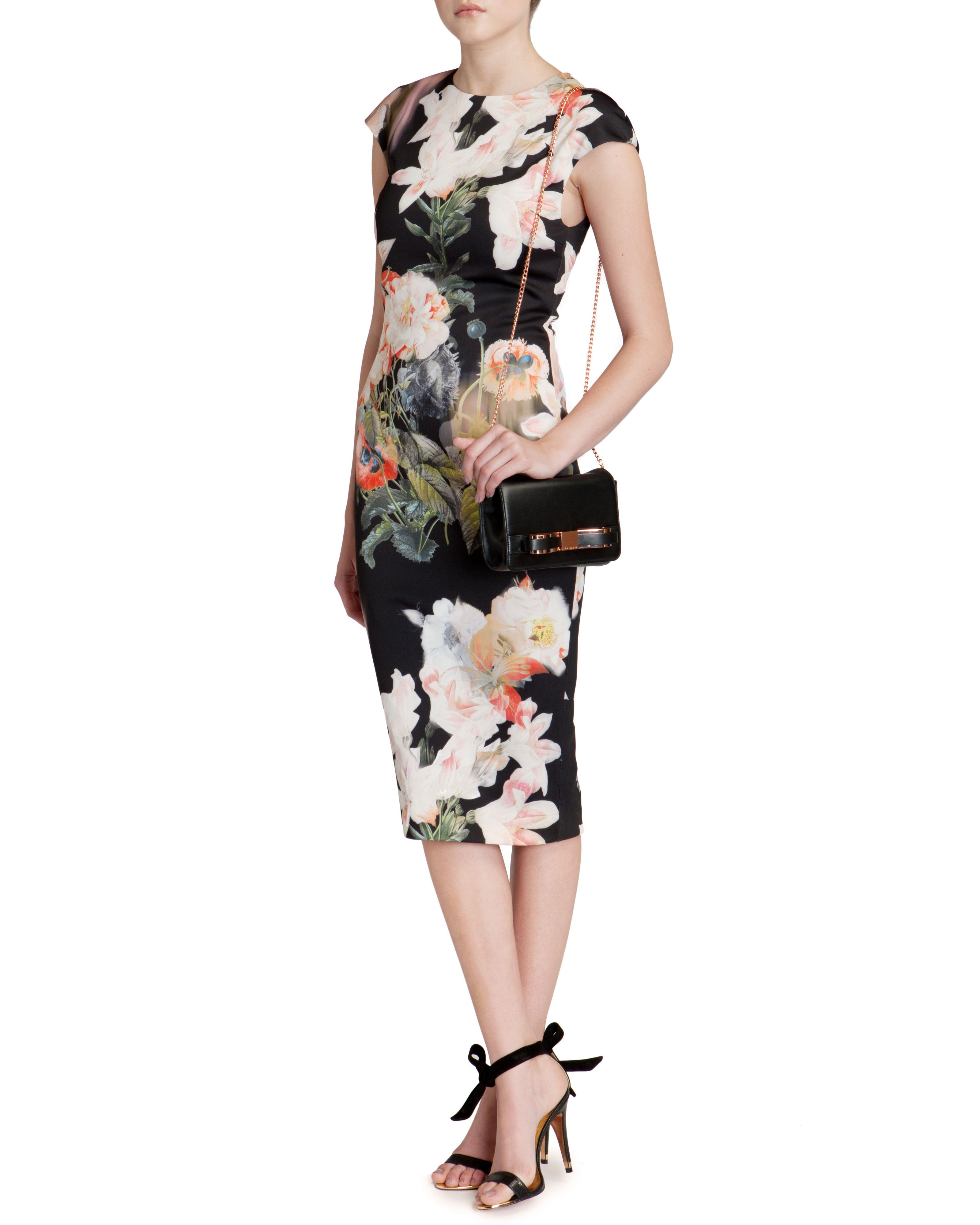 Candiss opulent bloom print dress