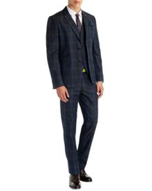Theon check cotton blazer