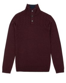 Tipton button funnel neck jumper