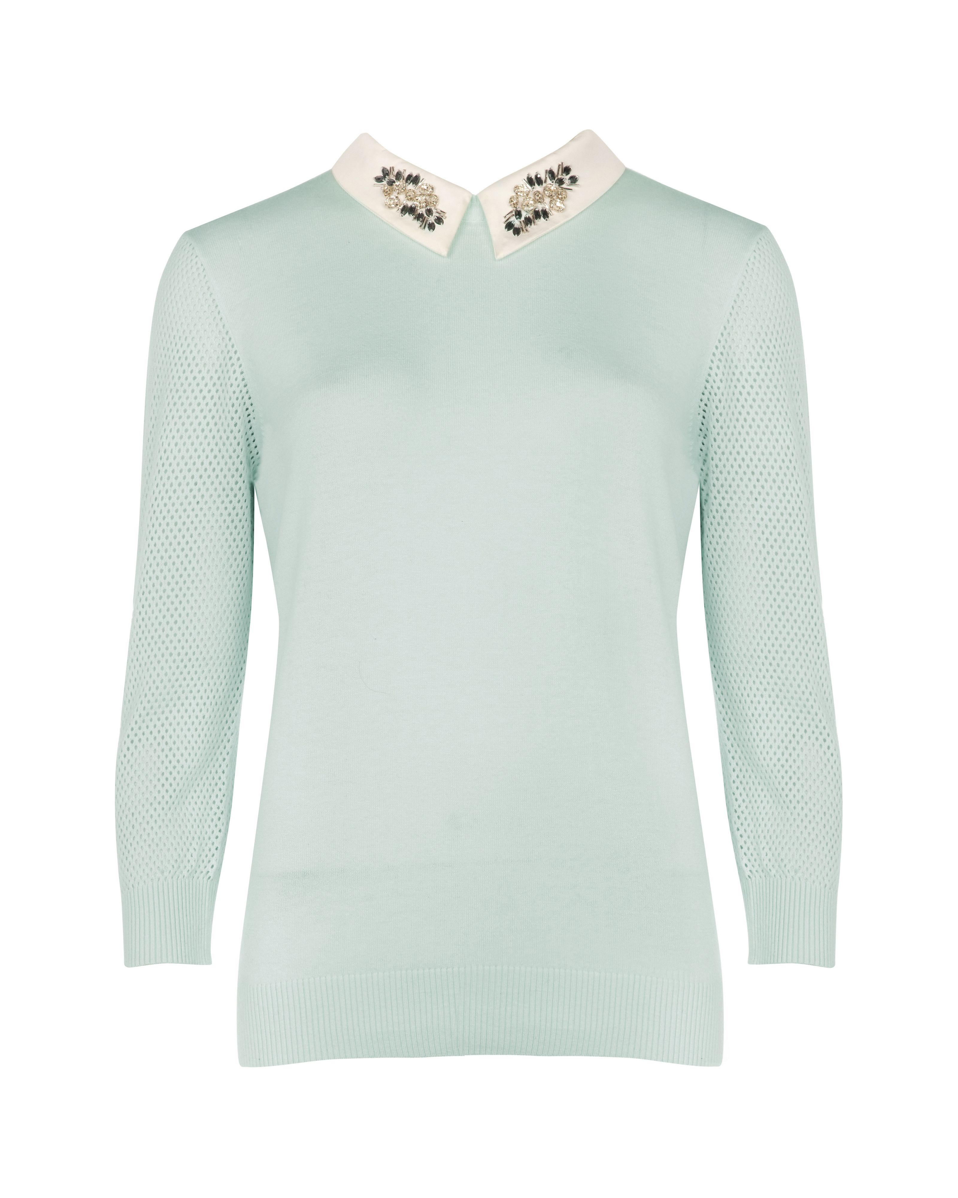 Helane embellished collar sweater