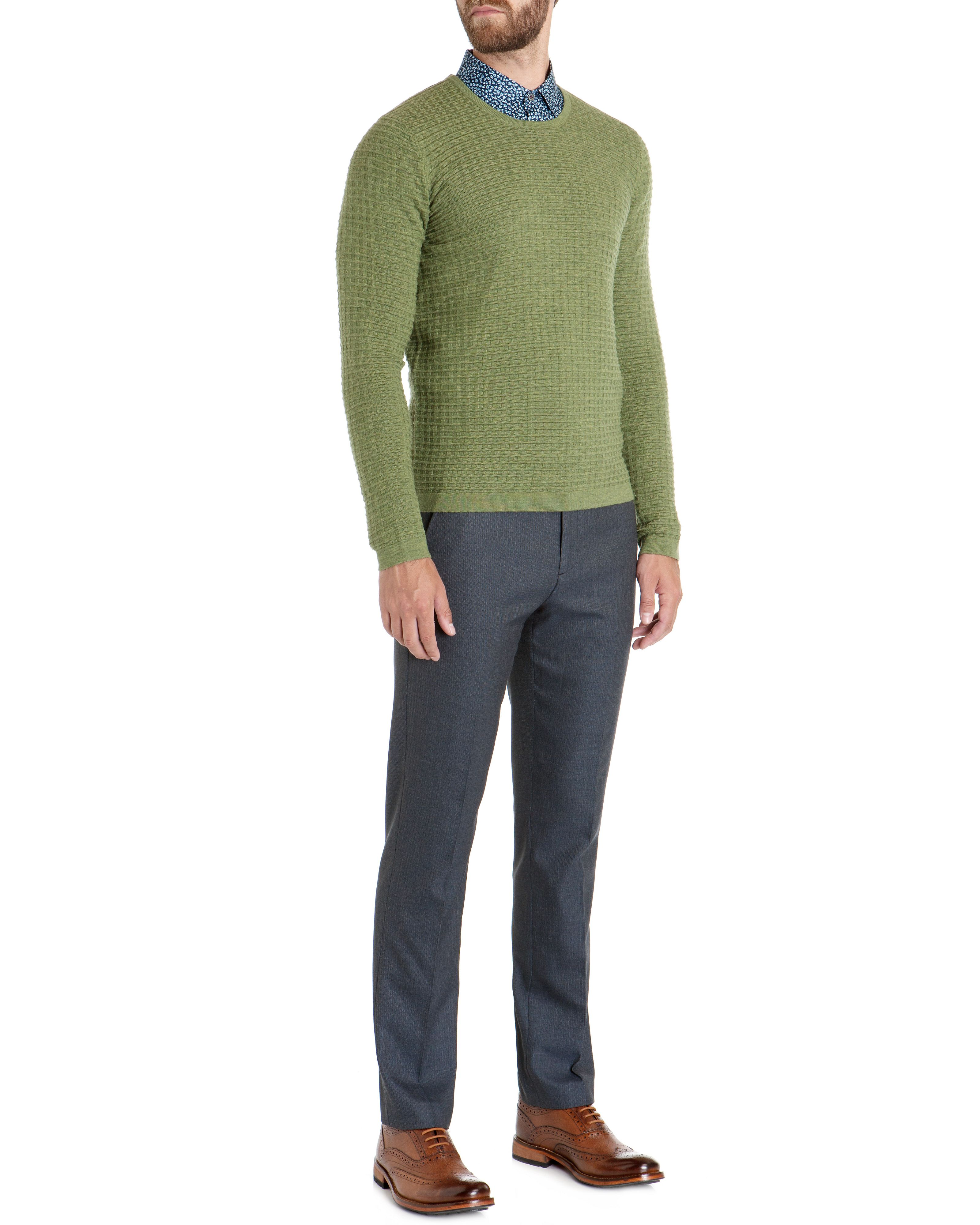 Chinley textured crew neck jumper