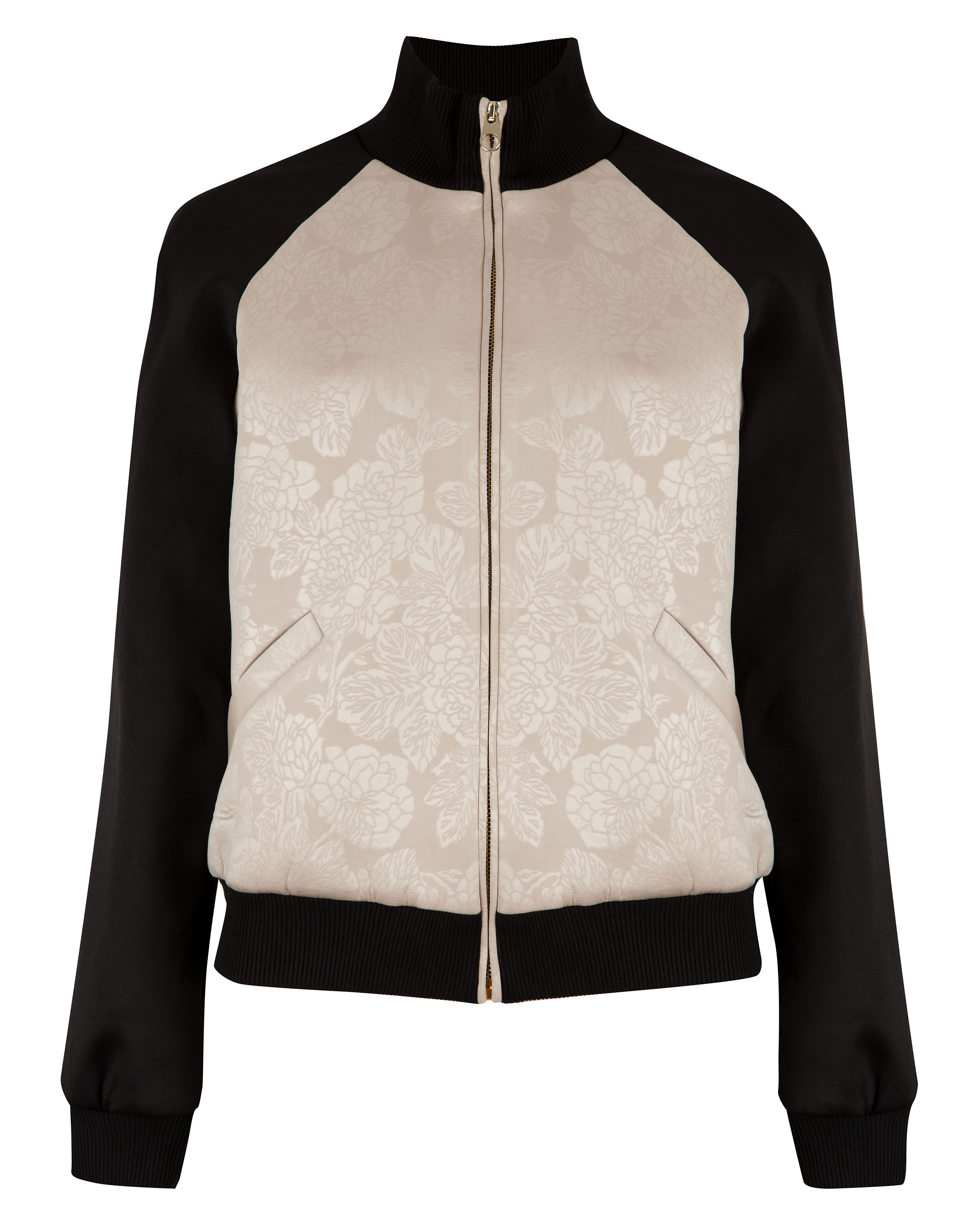 Glacia embossed bomber jacket