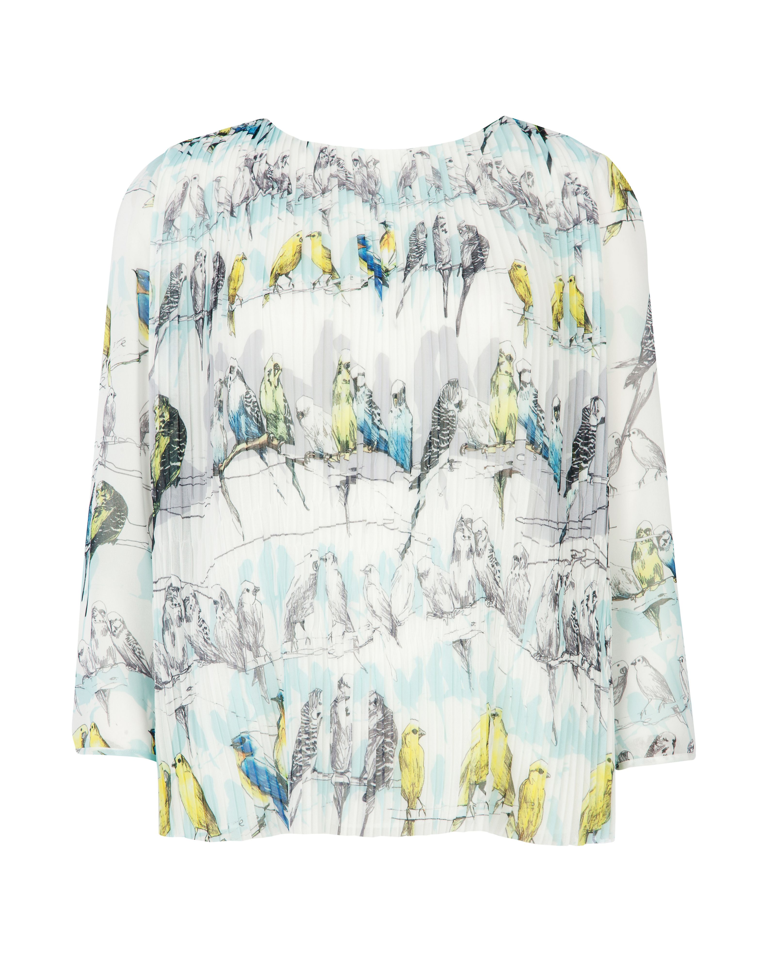 Frann colourful canary printed top