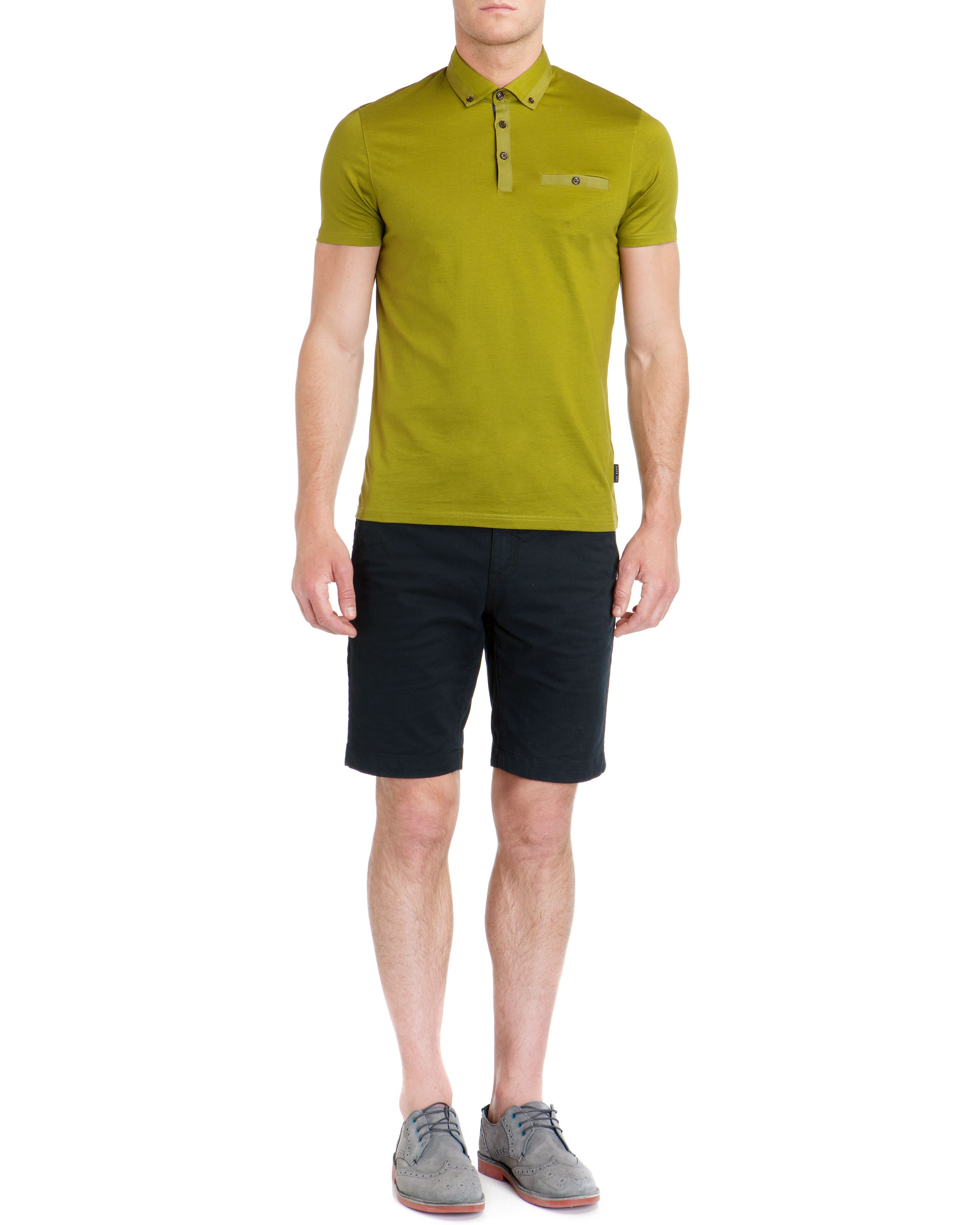 Grainyo grosgrain cotton polo shirt