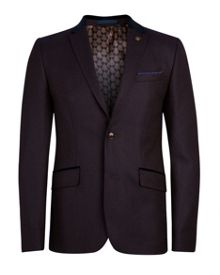 Jojen wool mix pin dot blazer