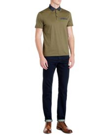 Avariz gros grain collar polo