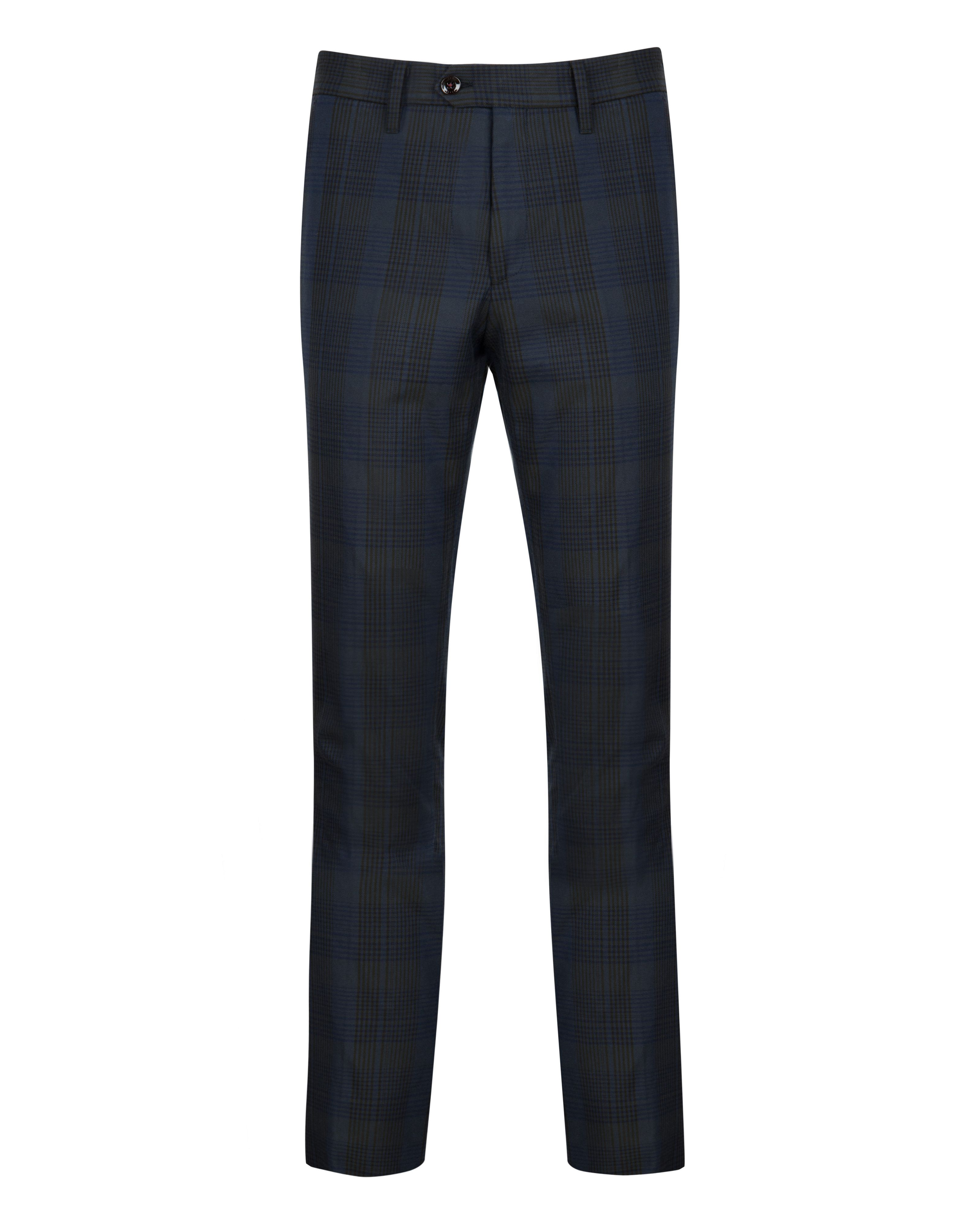 Theotro check cotton trouser