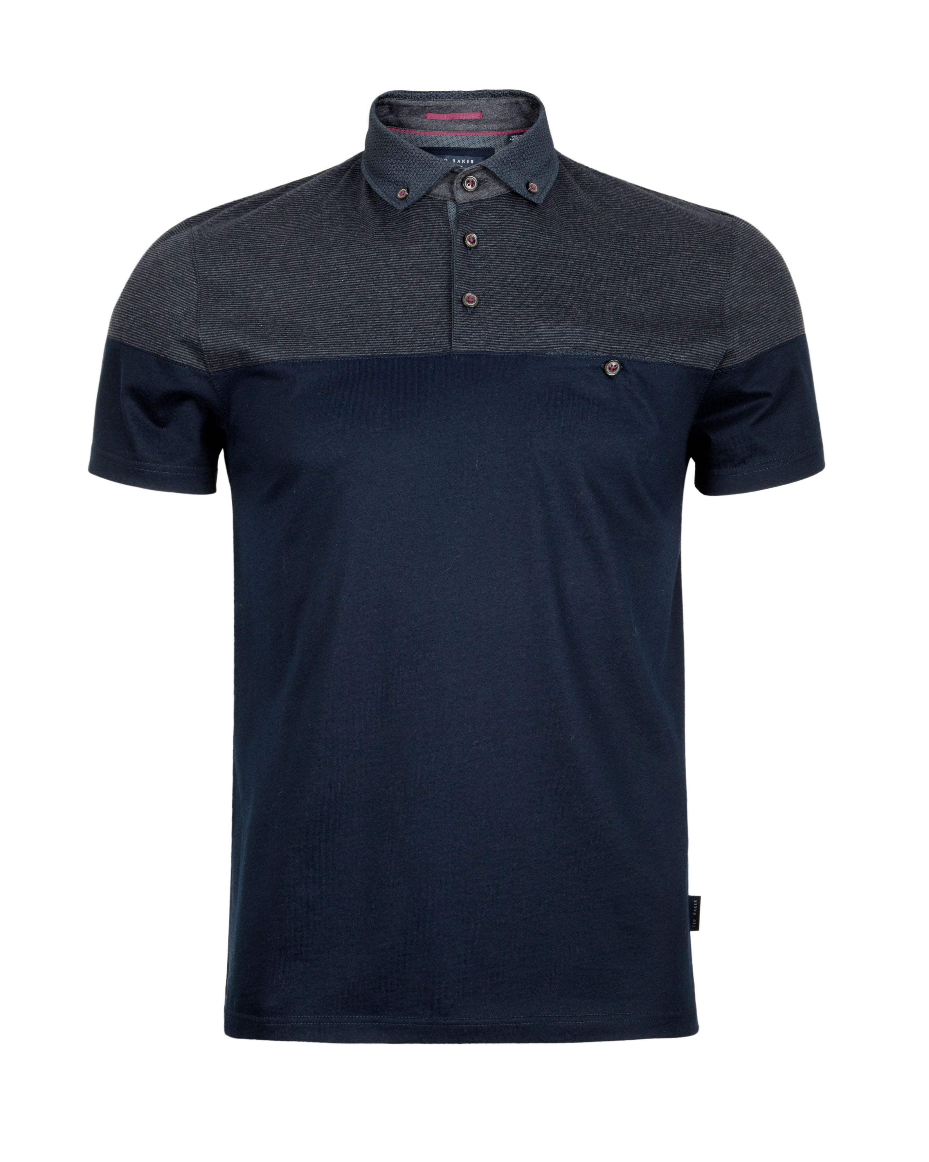 Wookpol panel printed polo shirt