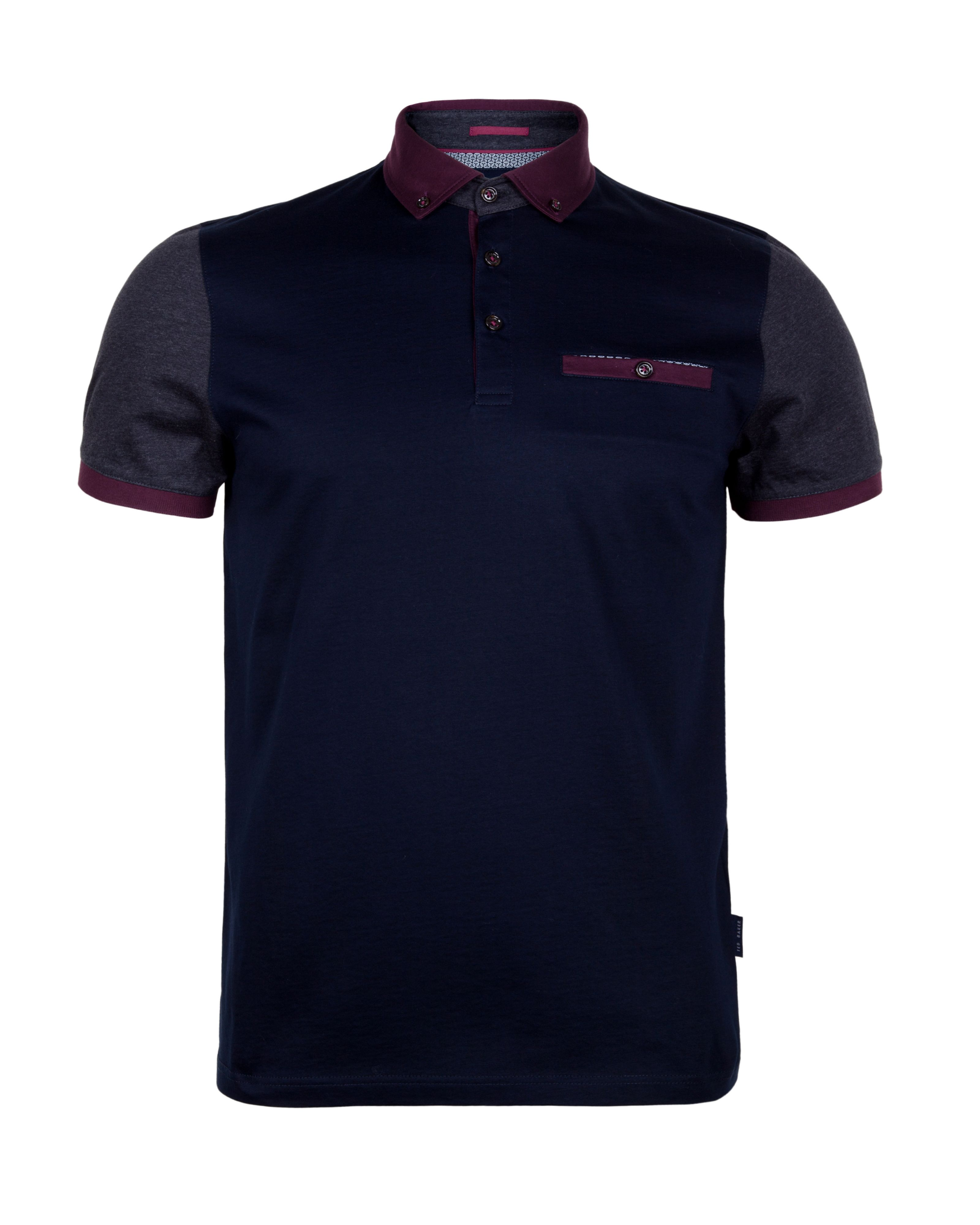 Pinkman block colour polo shirt