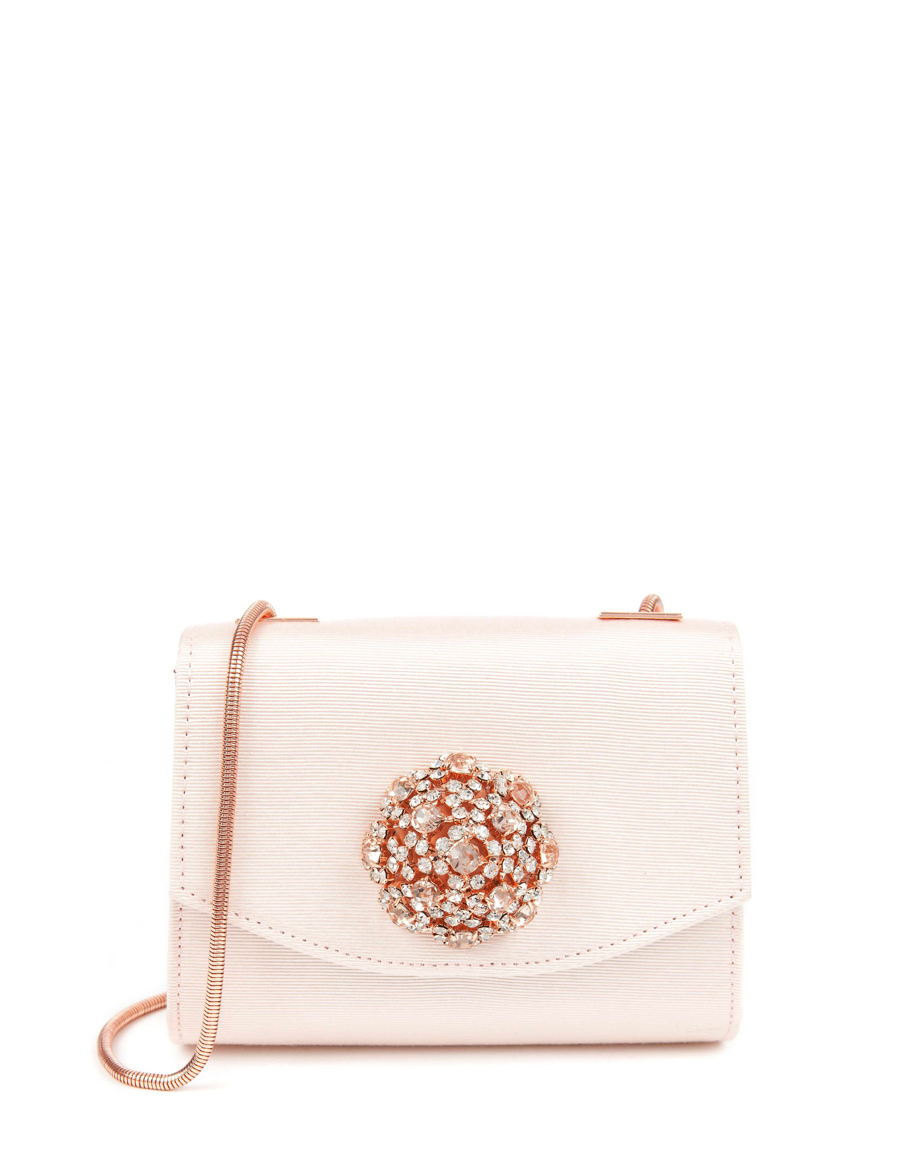 Jolene crystal brooch clutch