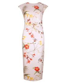 Masi botanical bloom print dress