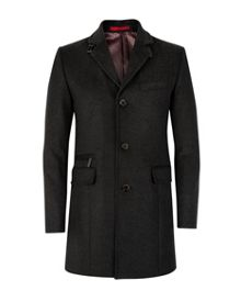 Mordane check 3/4 length coat