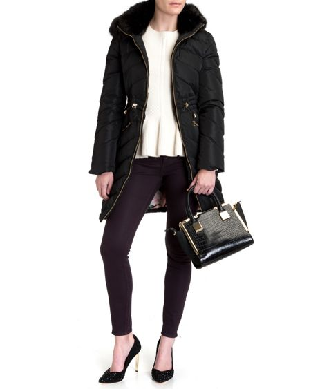 Ted Baker Holoww quilted down parka