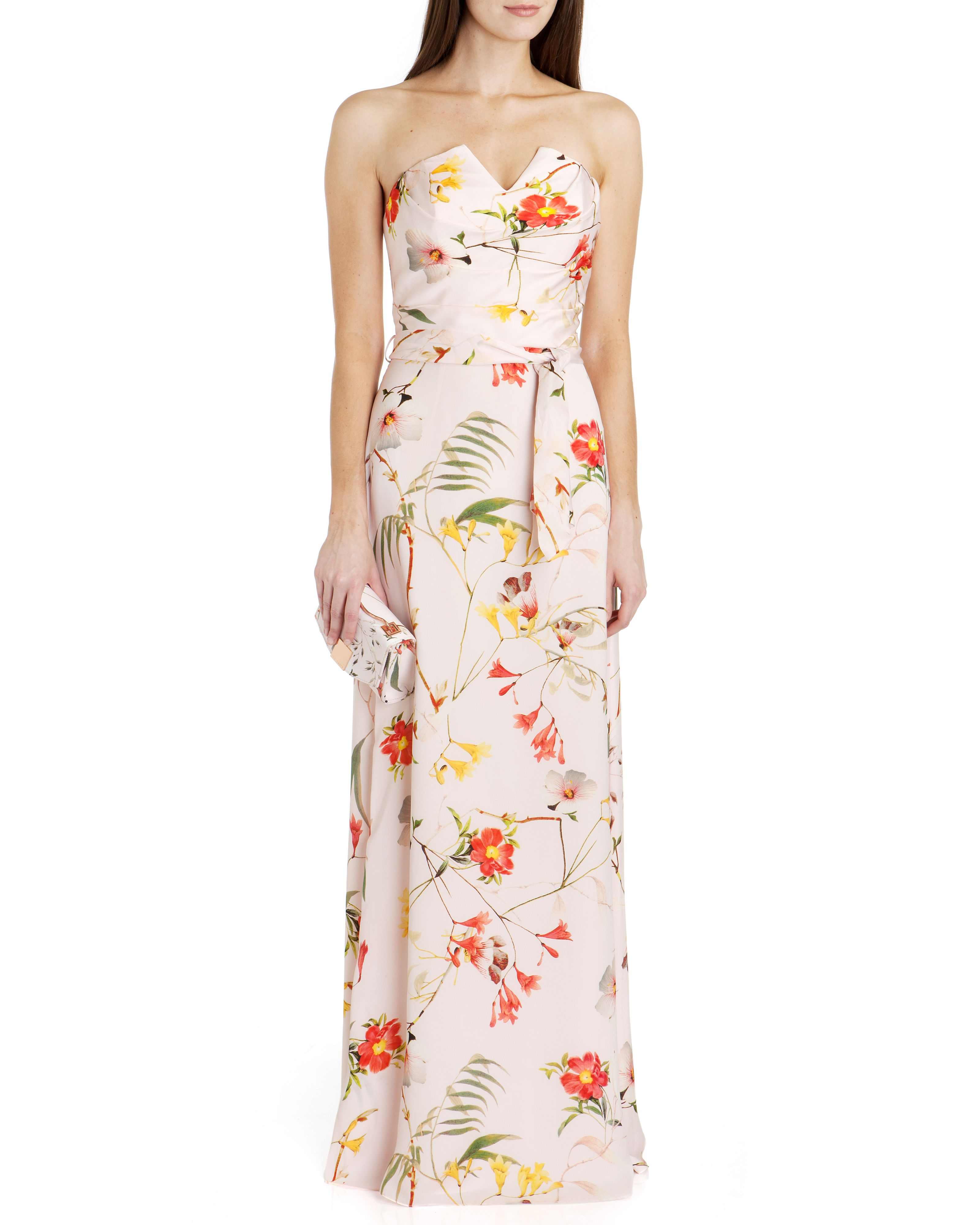 Alanah botanical bloom print maxi dress