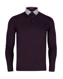 Cantilo check collar polo