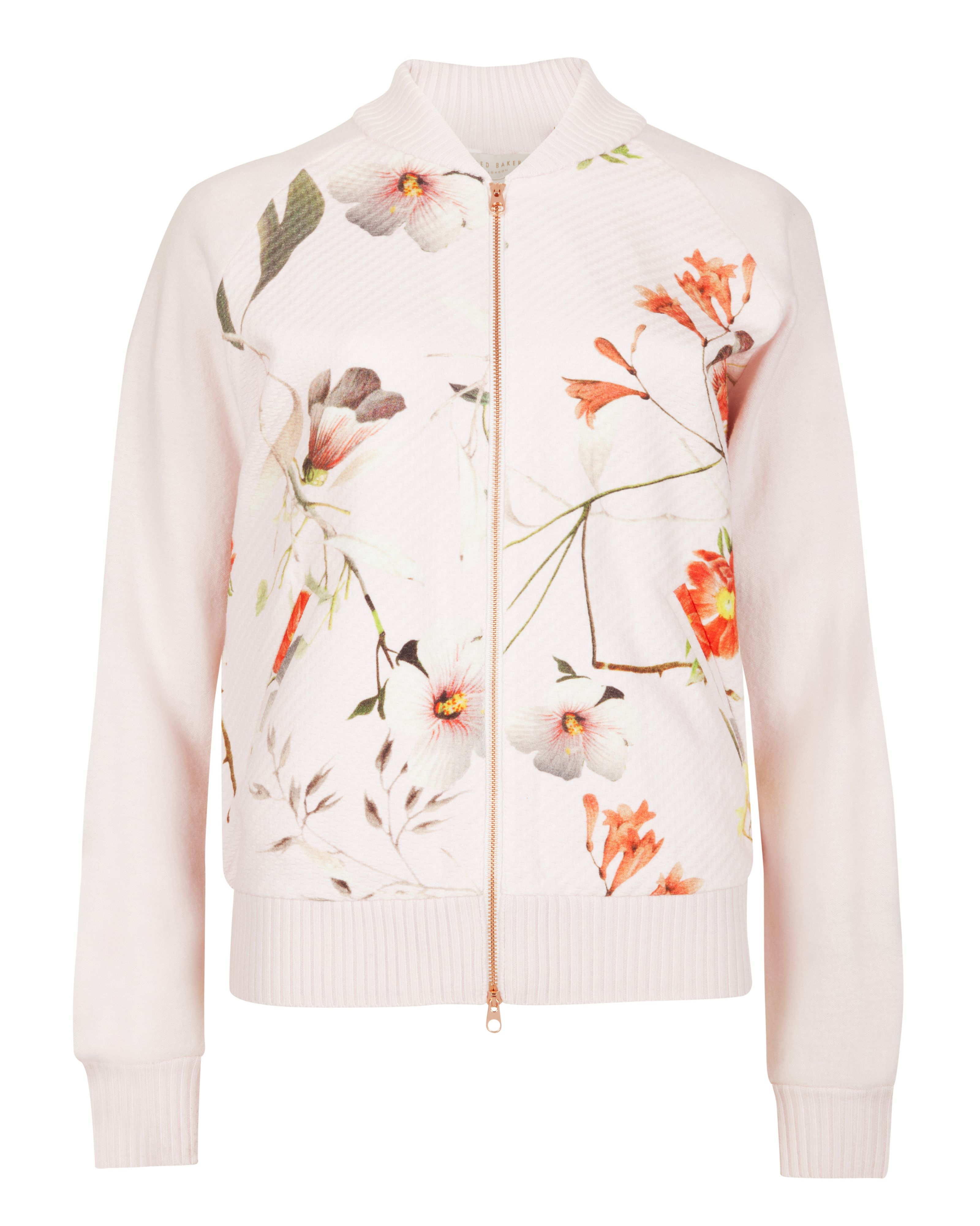 Caithi botanical bloom bomber jacket