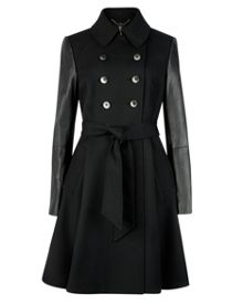 Mutisia contrast sleeves trench coat
