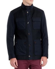 Roslin four pocket zip through coat