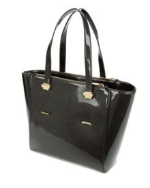 Lela Crosshatch trapeze shopper