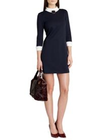 Wubty contrast collar dress