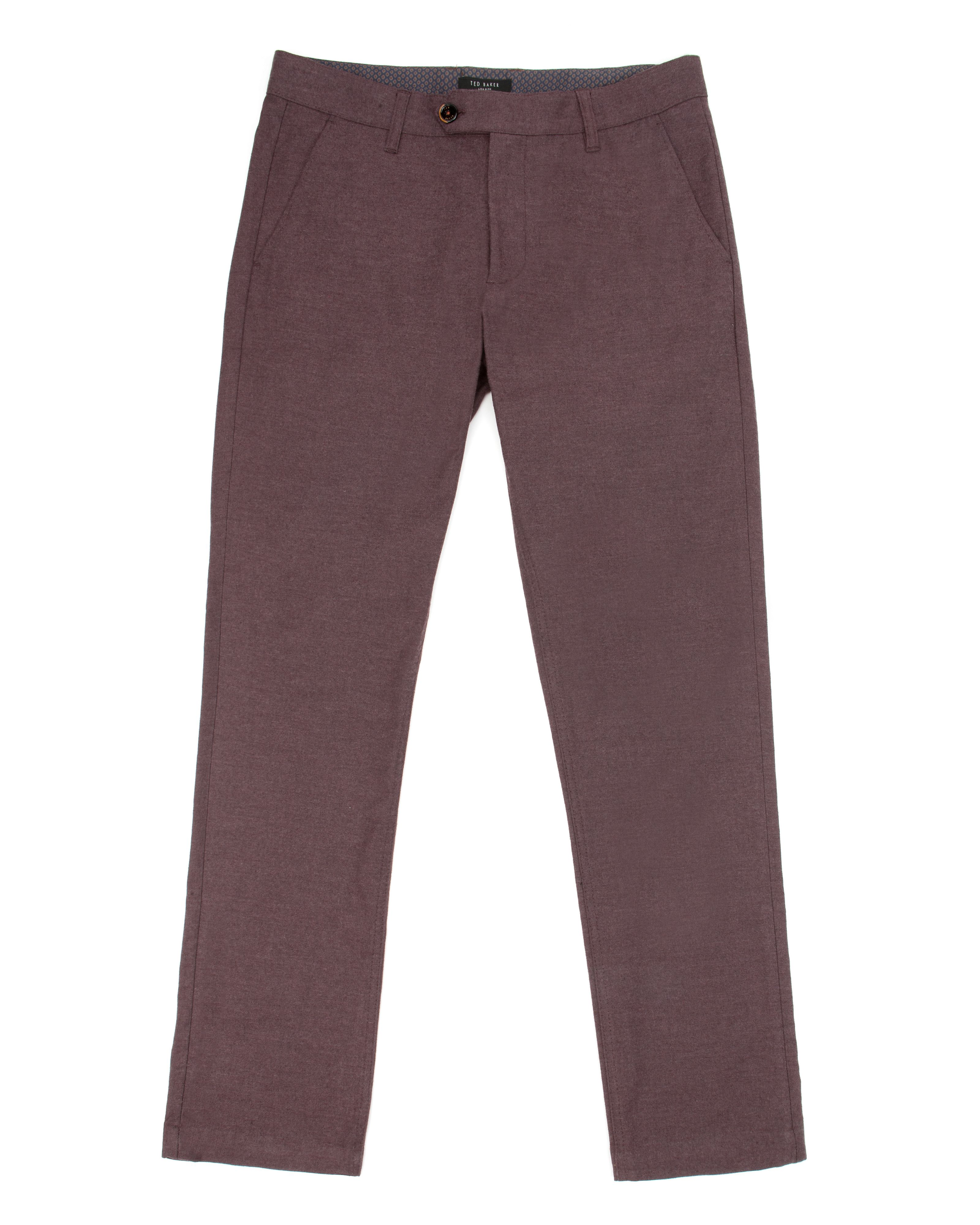 Lommy classic fit brushed cotton trousers