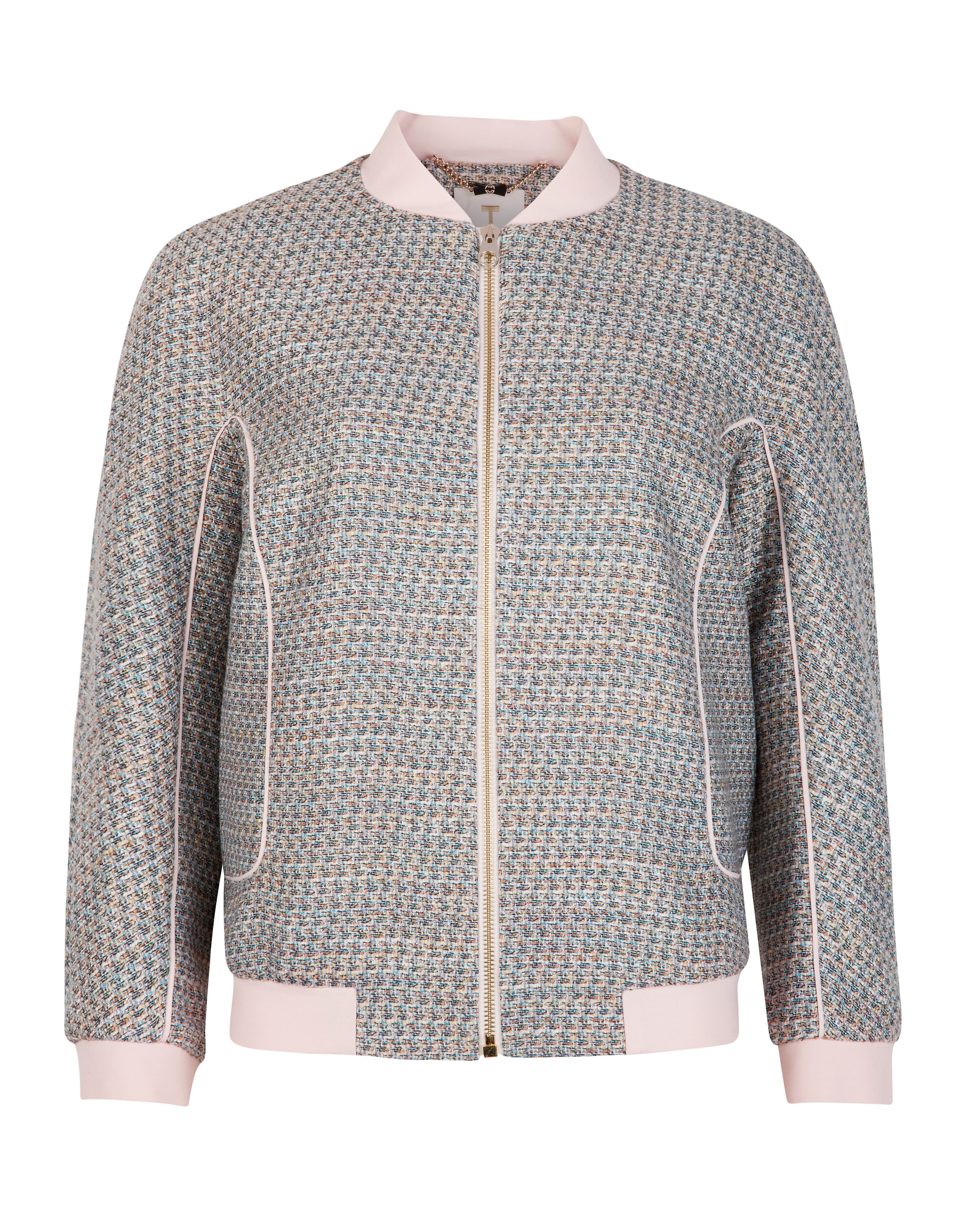 Talitha tweed bomber jacket