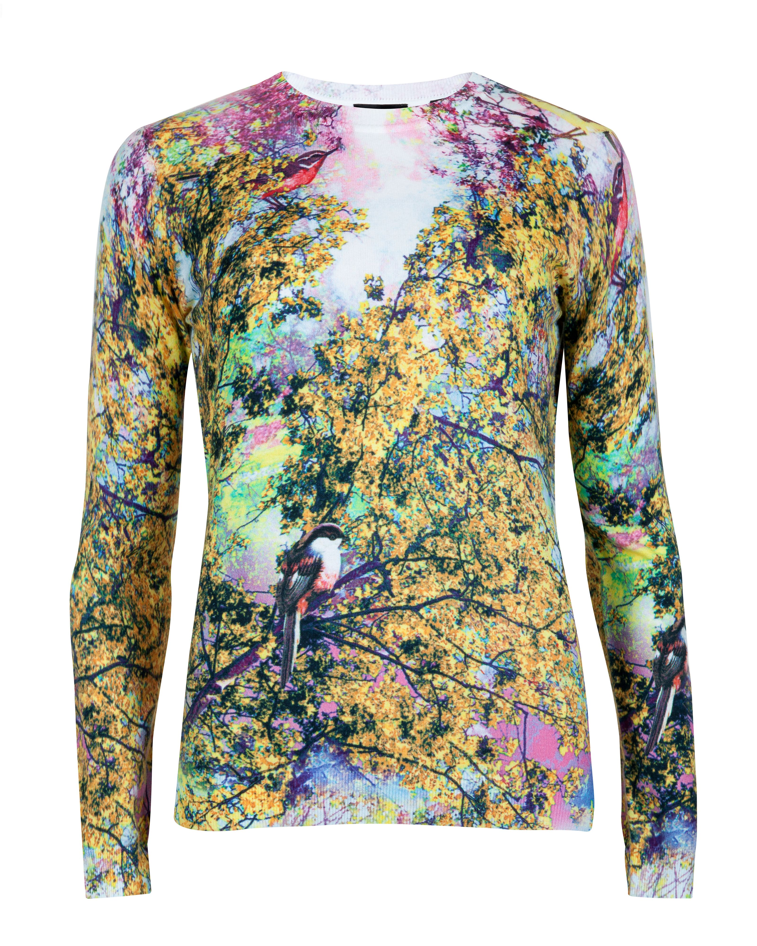 Damila pretty trees print sweater
