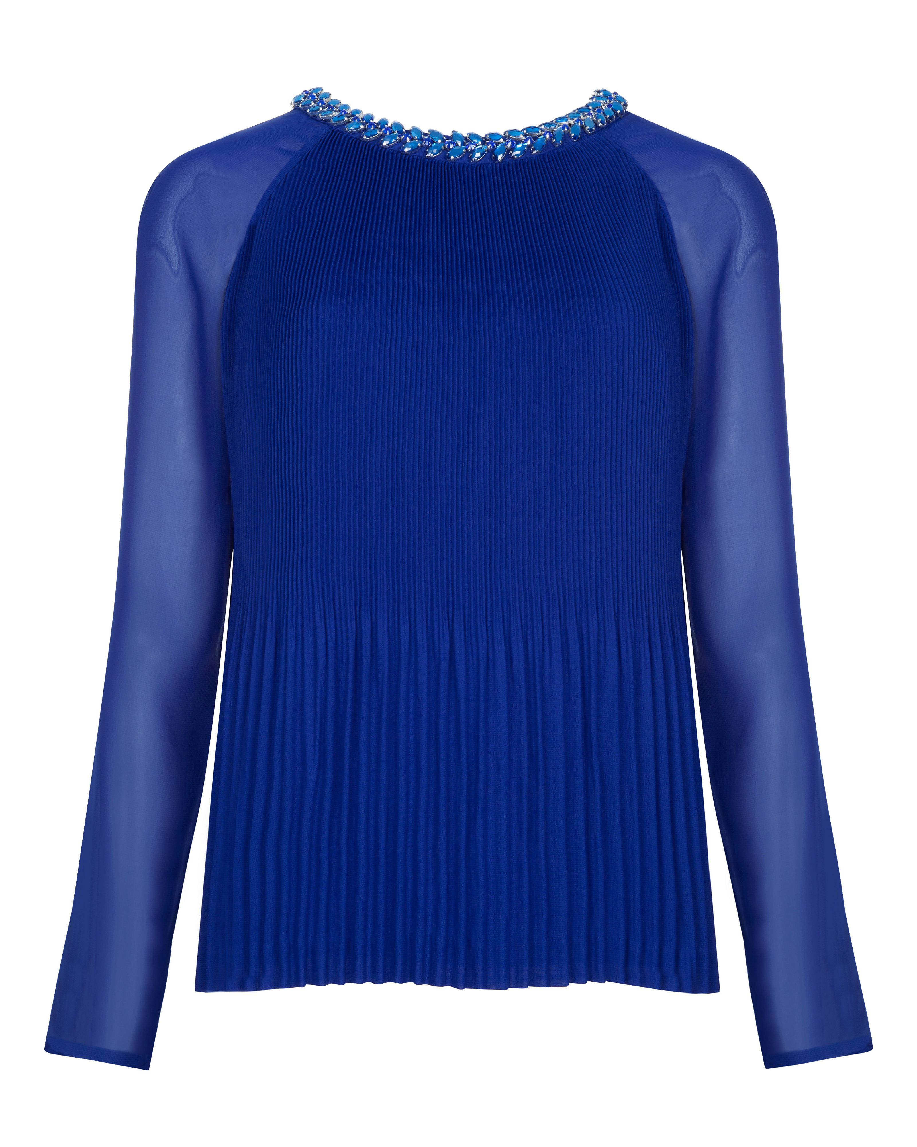 Lovina beaded neckline top