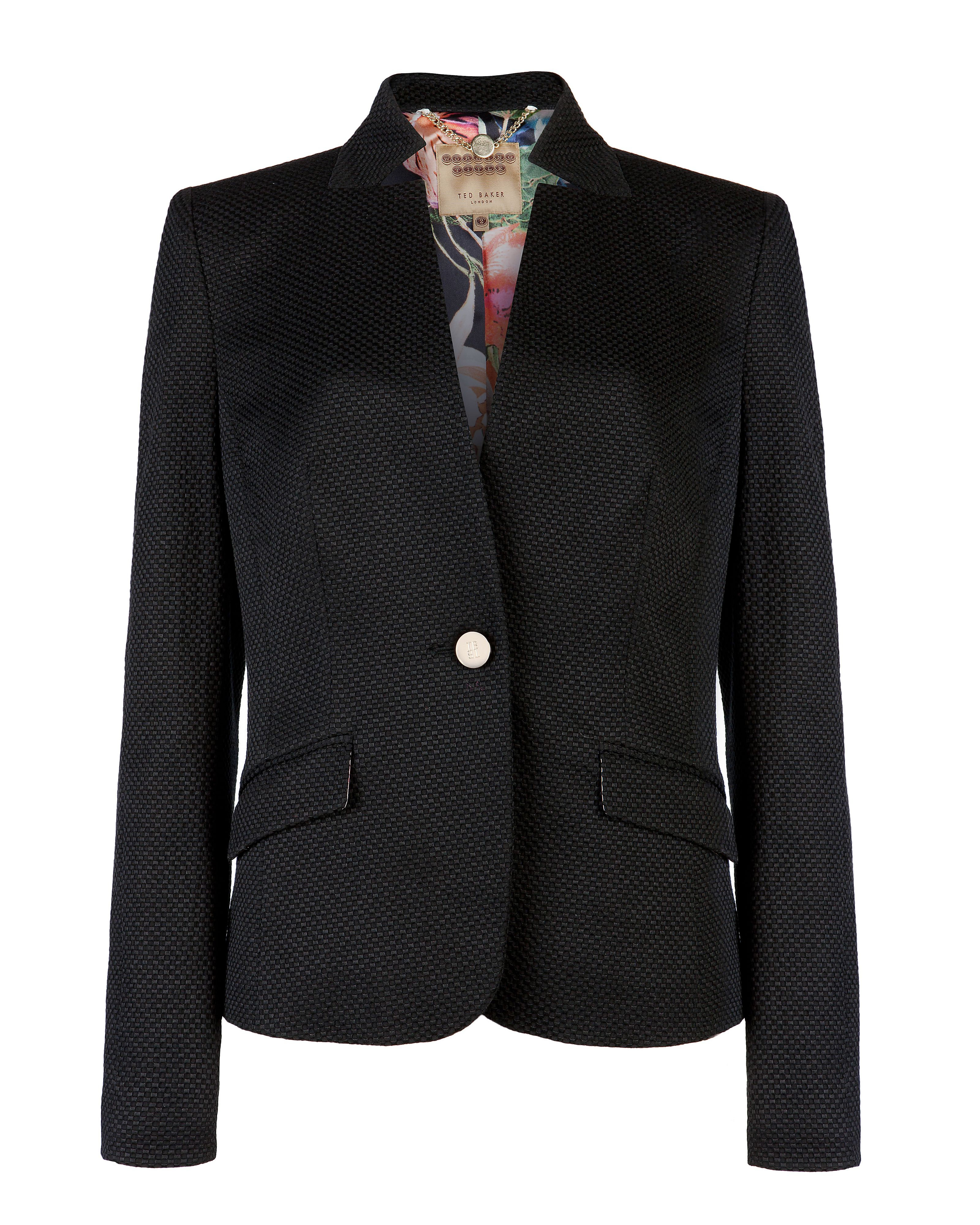 Skyler textured suit blazer