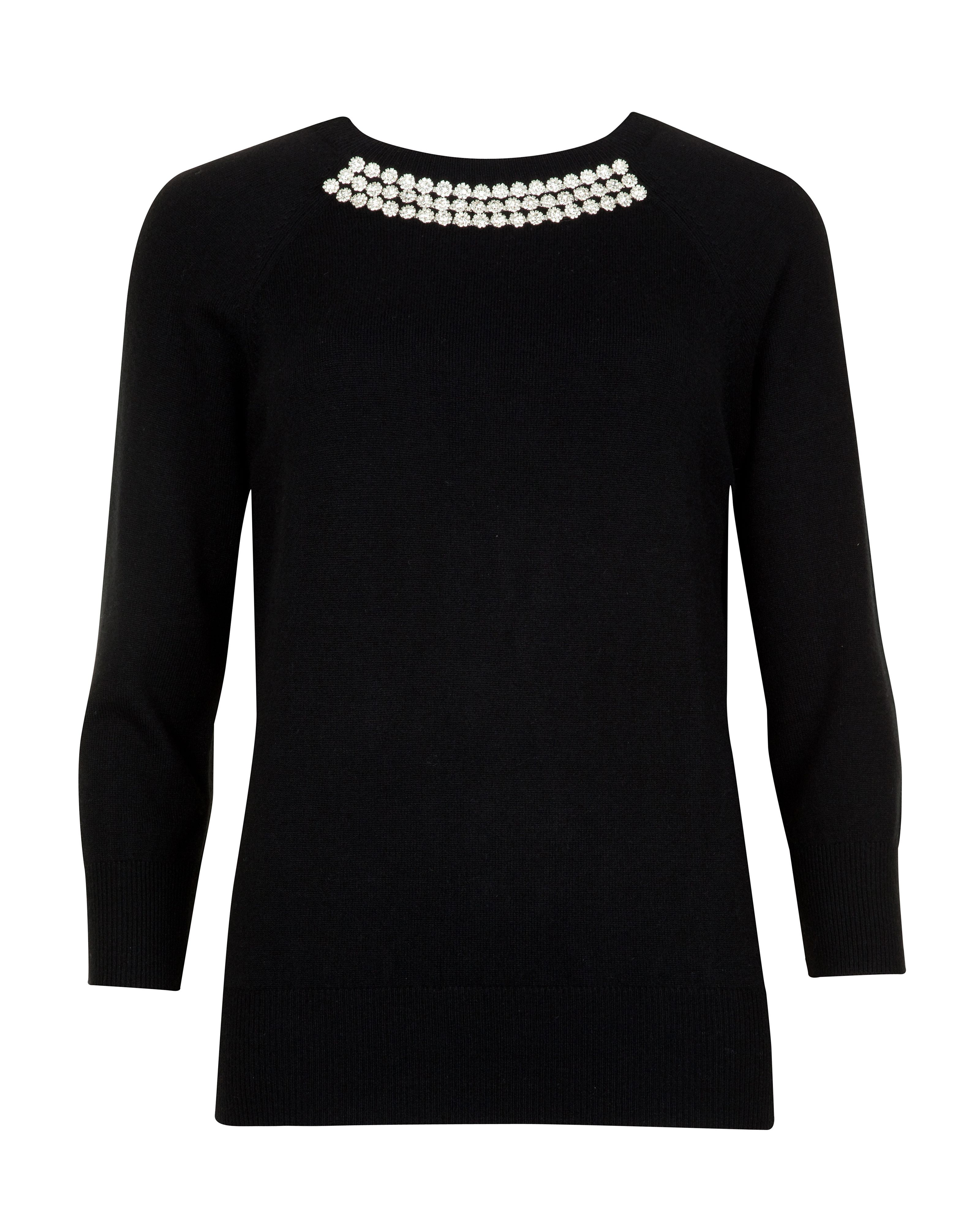 Crisana crystal embellished knit jumper