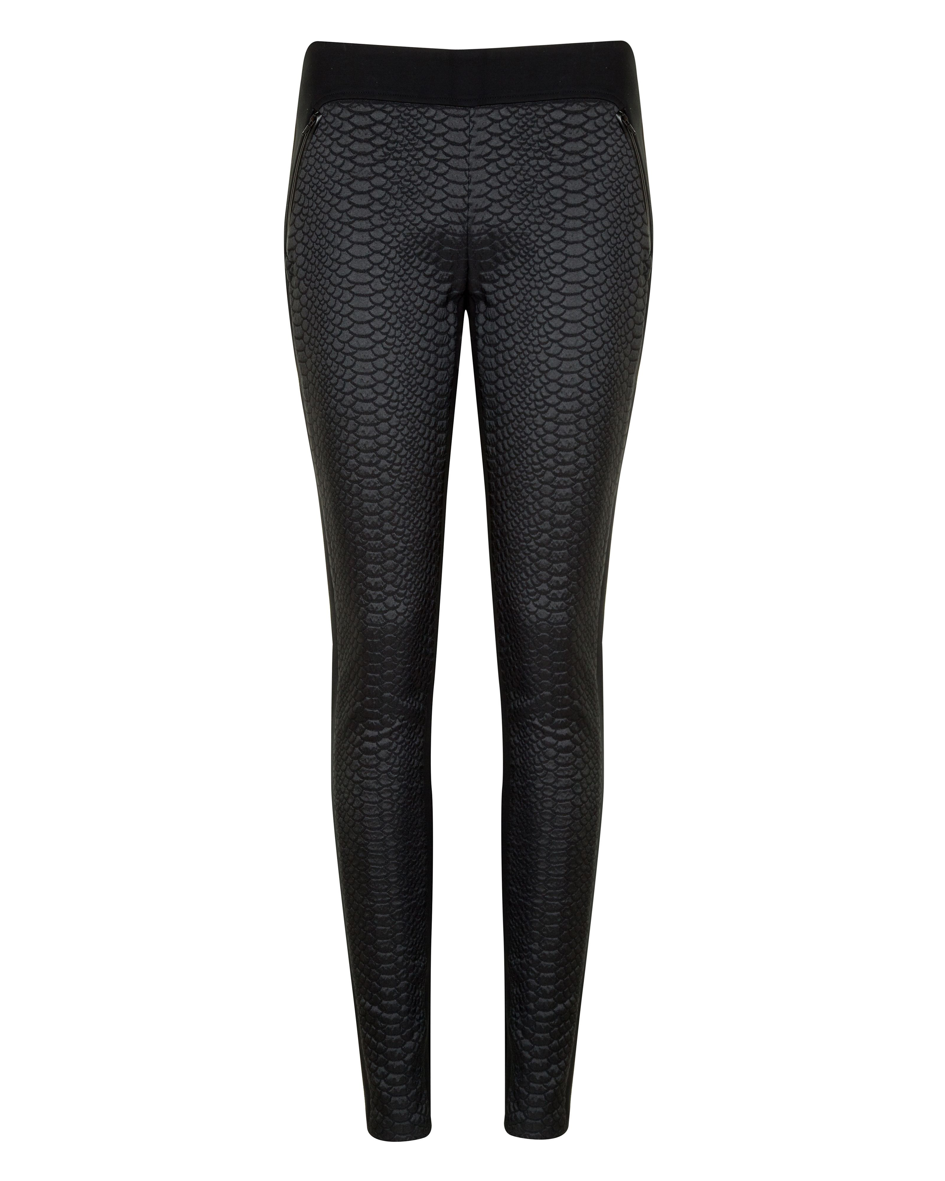 Aamber snake effect panelled legging