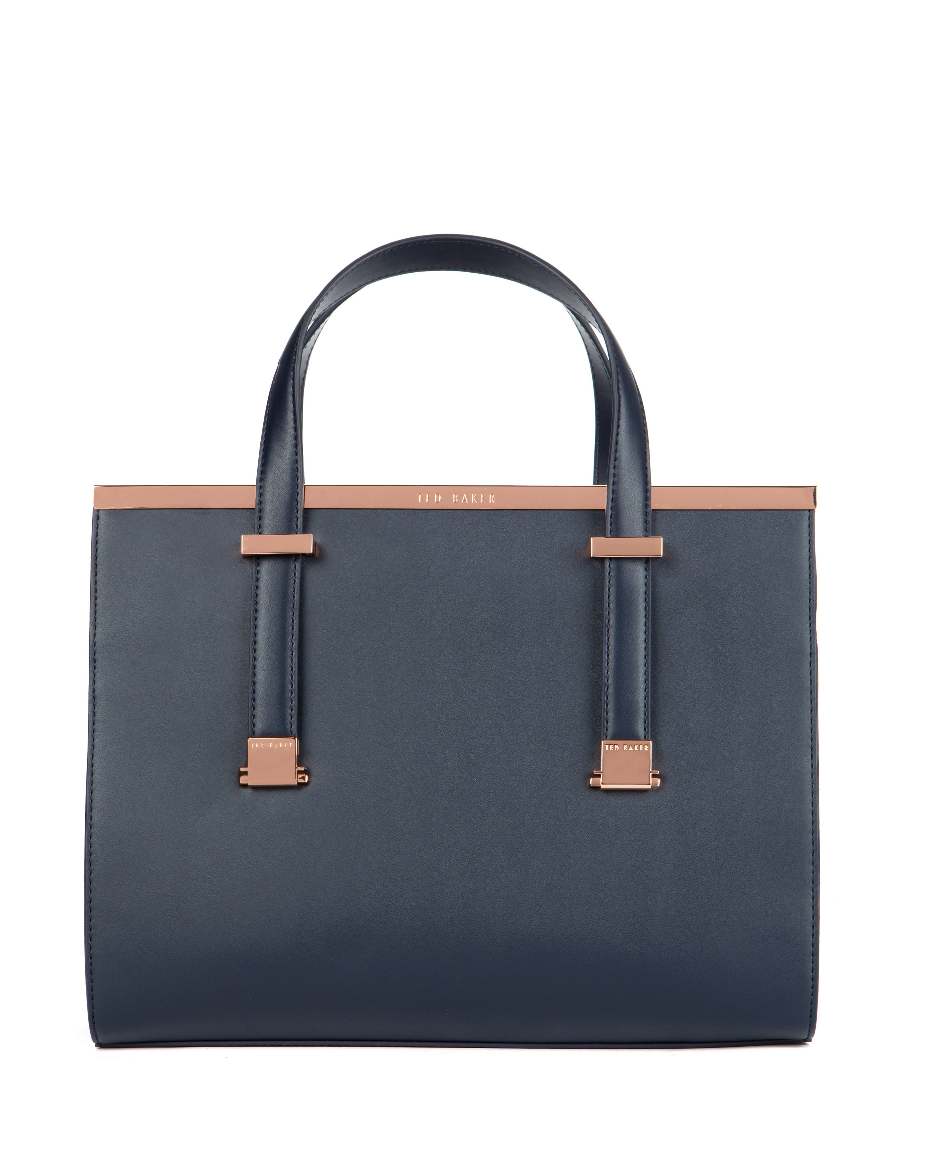 Harpel metallic bar tote bag