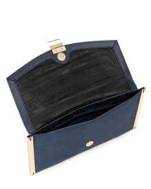 Allices Metal edged clutch bag