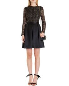 Freeya lace top full skirt dress