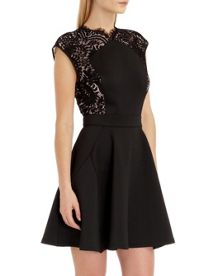 Vivace Lace panel dress