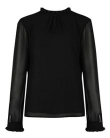 Klaree embellished collar top