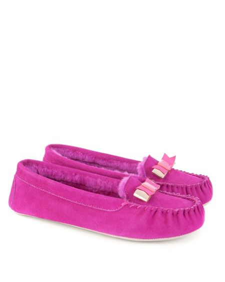 Ted Baker Sarsone Bow detail moccasin slippers