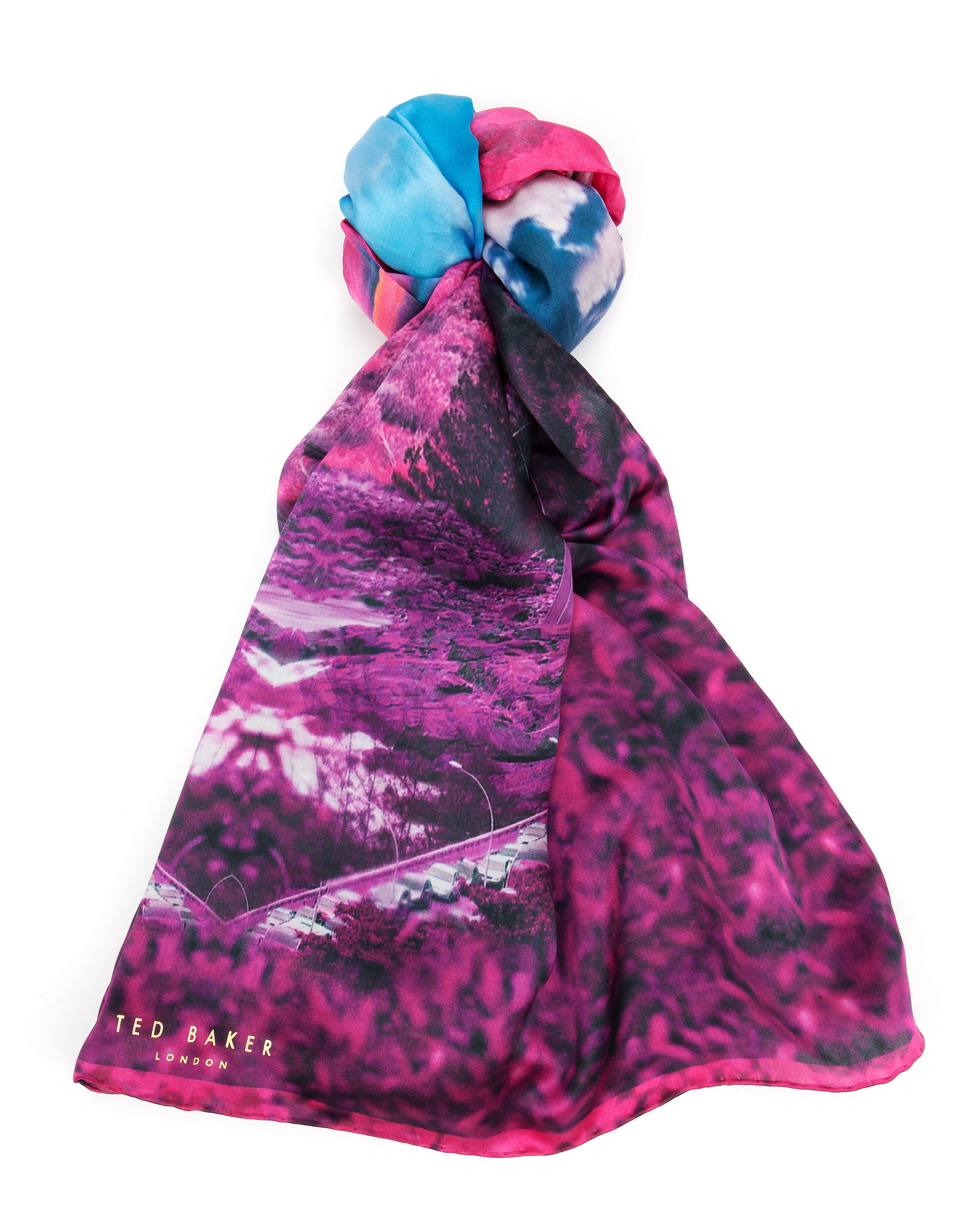 Saanvi Road to nowhere silk scarf